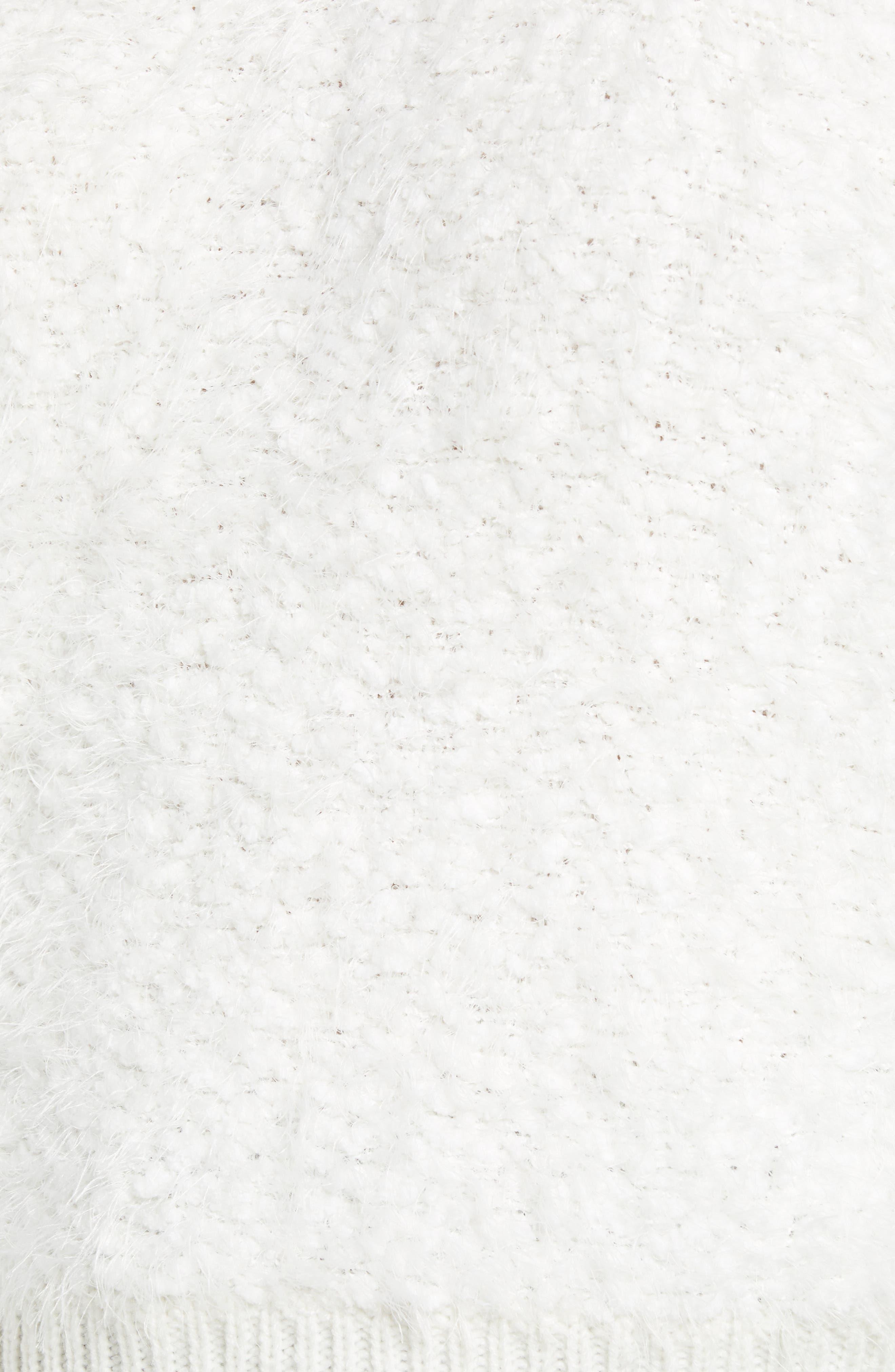 Fluffy Dolman Sweater,                             Alternate thumbnail 5, color,                             IVORY