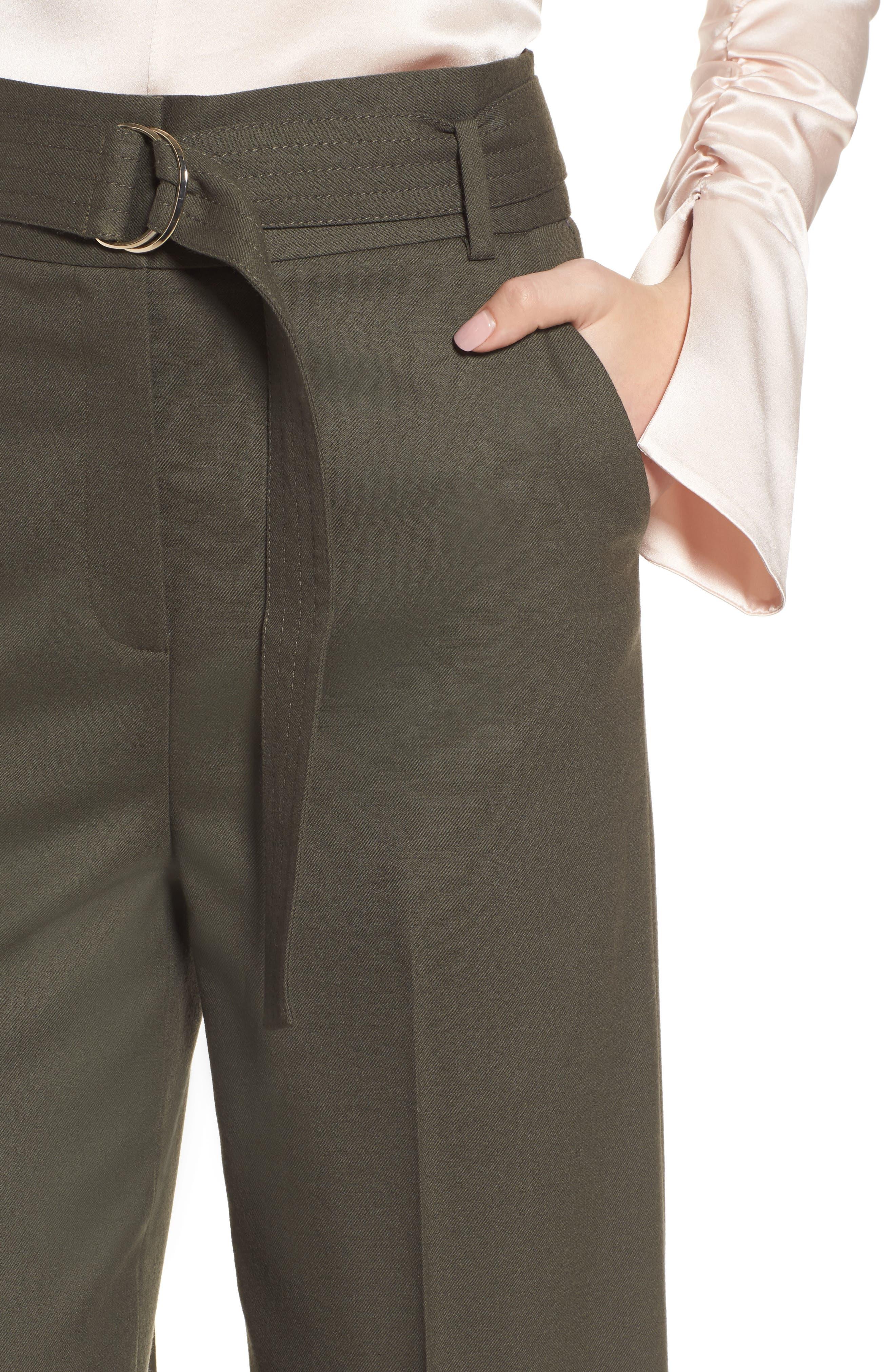 Wide Leg Stretch Wool Pants,                             Alternate thumbnail 4, color,                             311