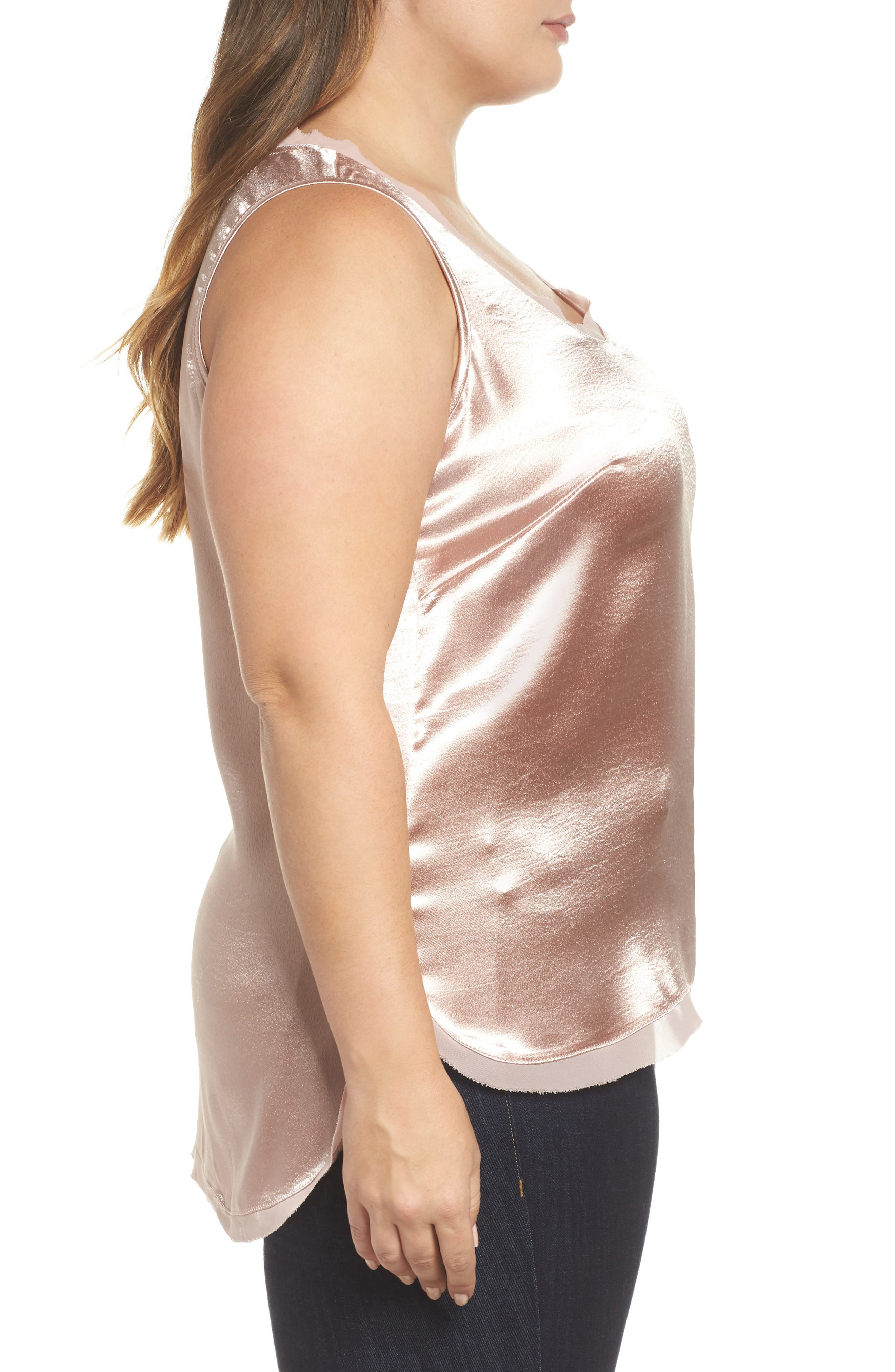 Hammered Satin Tank,                             Alternate thumbnail 6, color,