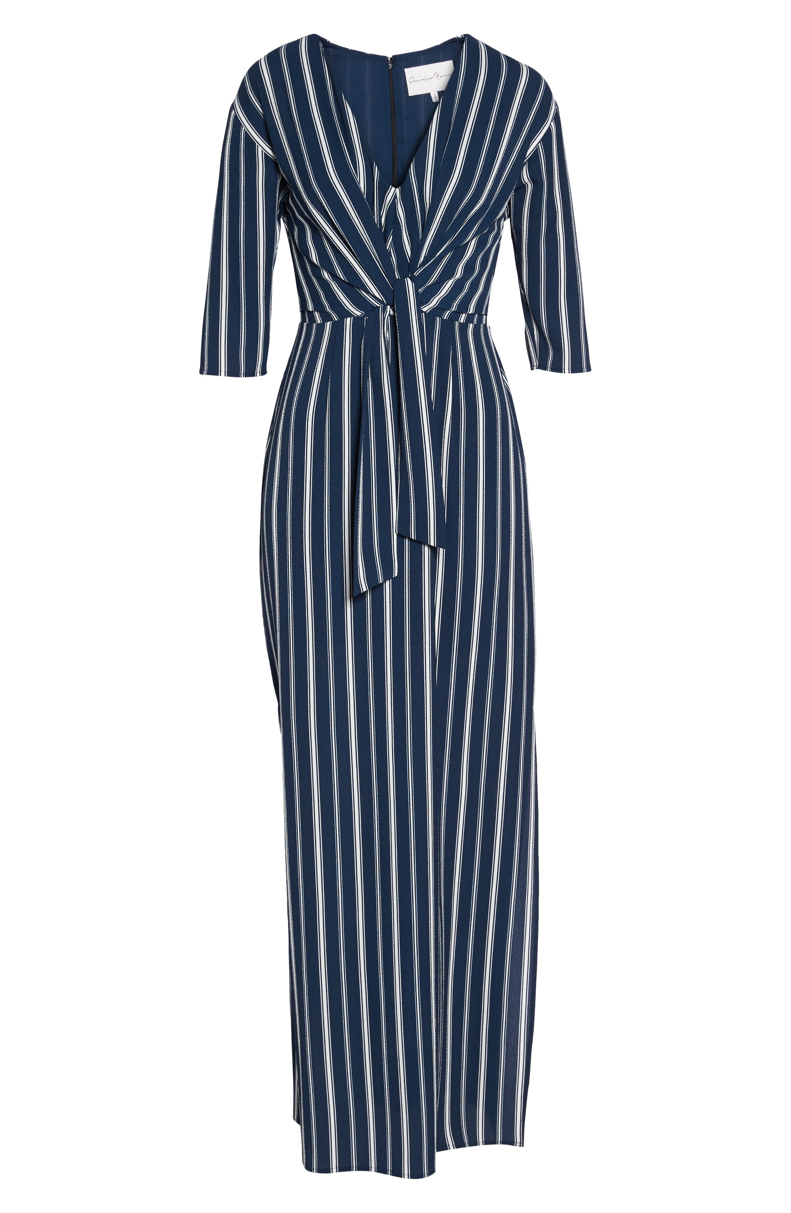 Knot Front Maxi Dress,                             Alternate thumbnail 6, color,                             439