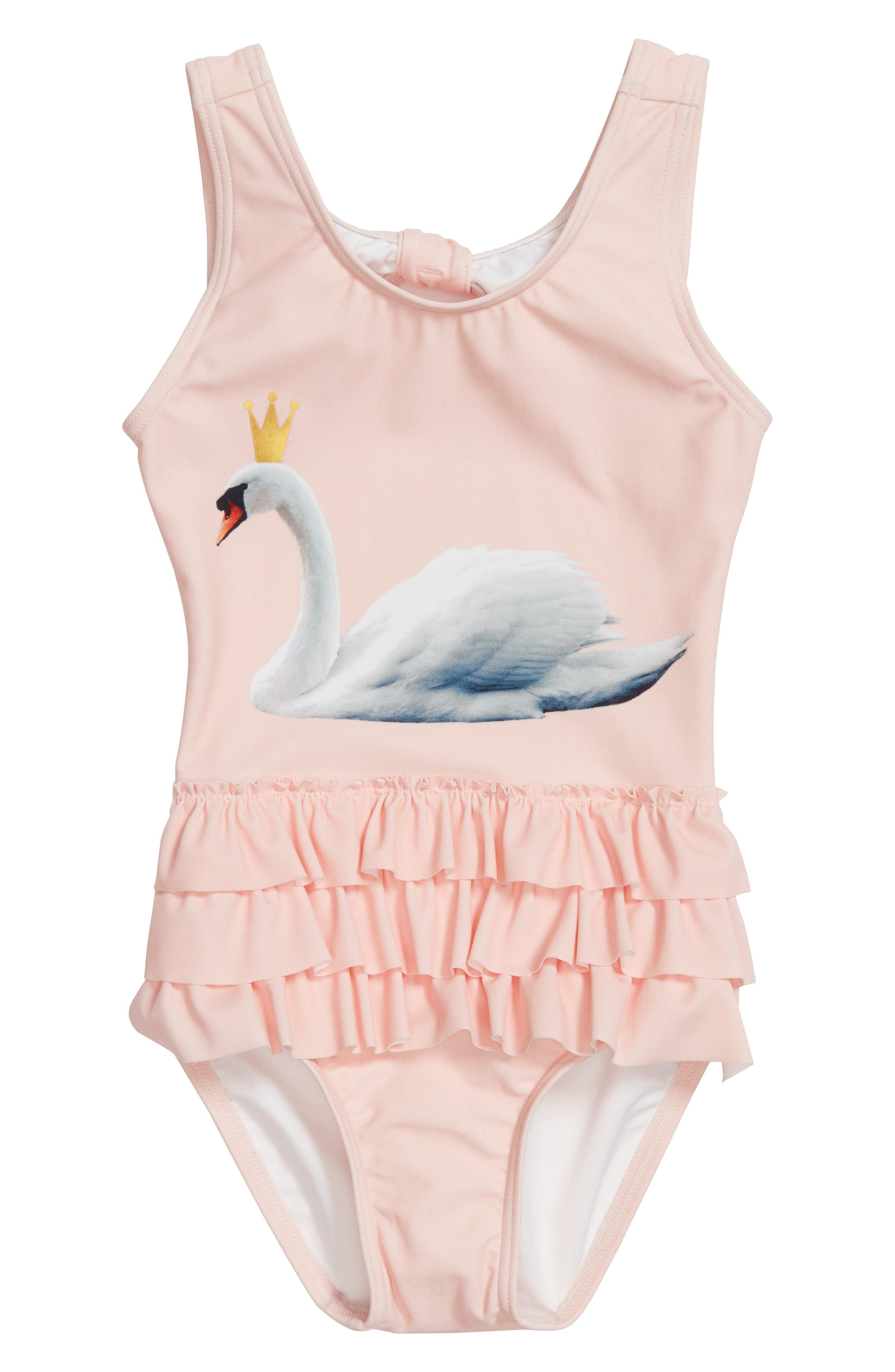 Swan Graphic One-Piece Swimsuit,                             Main thumbnail 2, color,