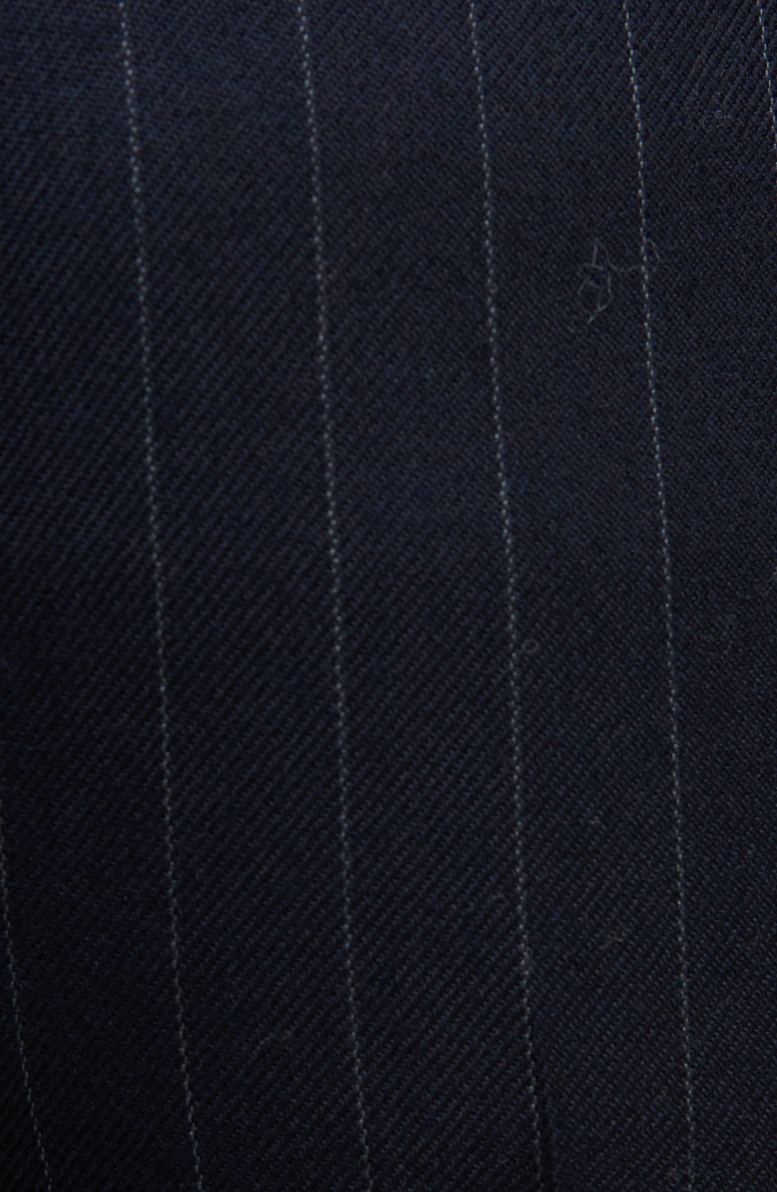 Trea Pinstripe Straight Leg Wool Pants,                             Alternate thumbnail 5, color,                             410