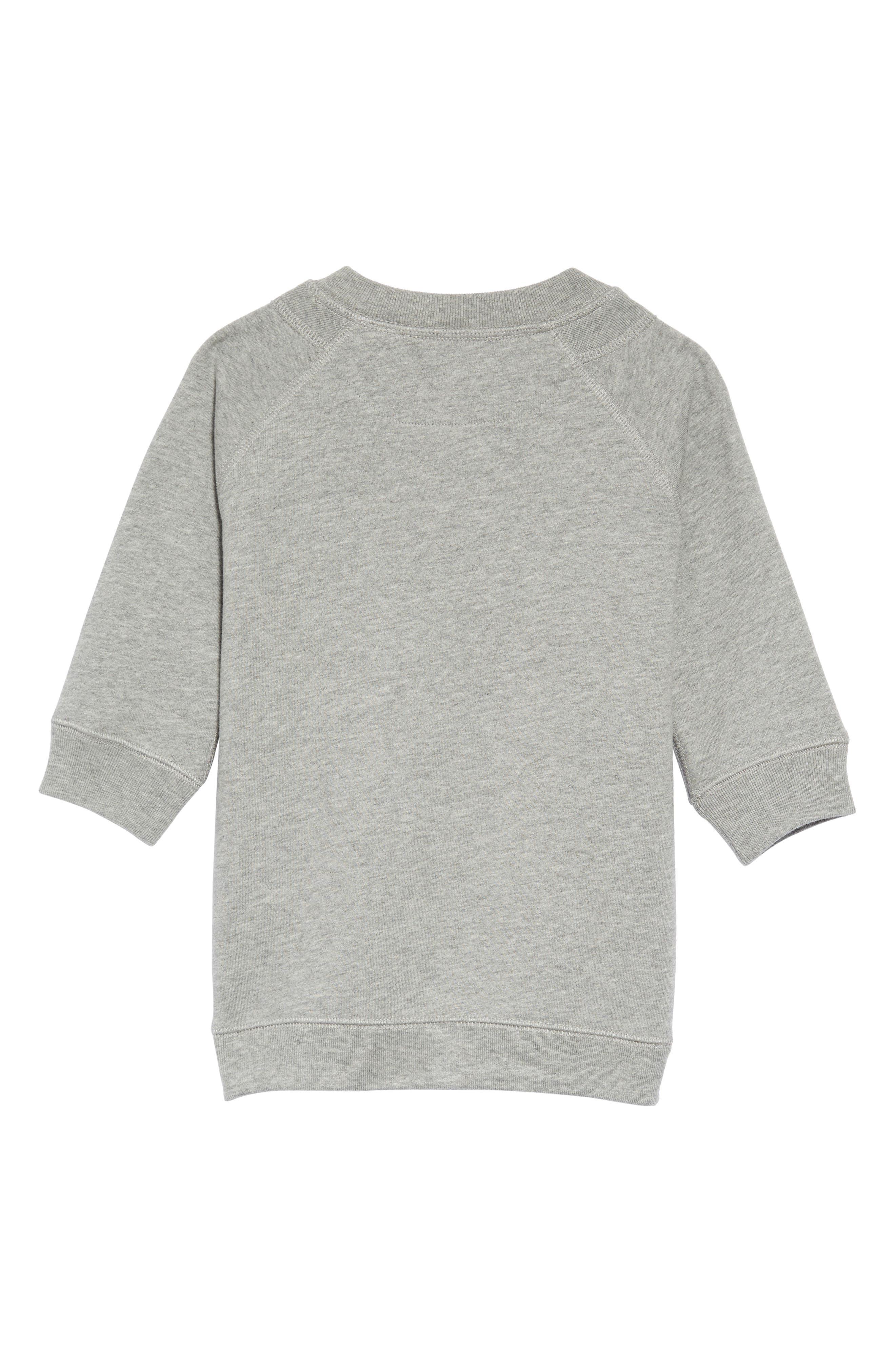Mala Archive Logo Sweatshirt Dress,                             Alternate thumbnail 2, color,                             GREY MELANGE