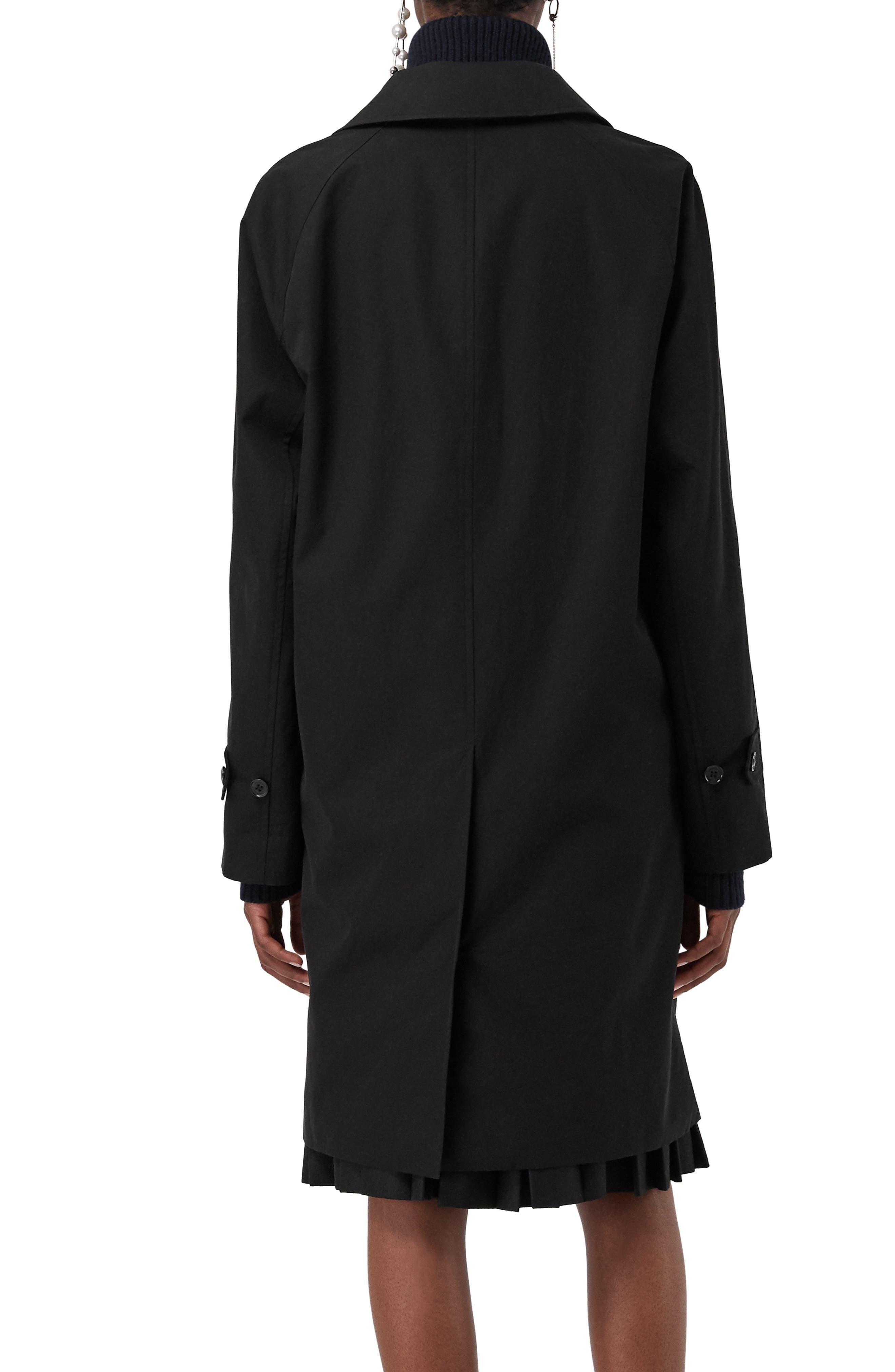 Camden Cotton Car Coat,                             Alternate thumbnail 2, color,                             BLACK