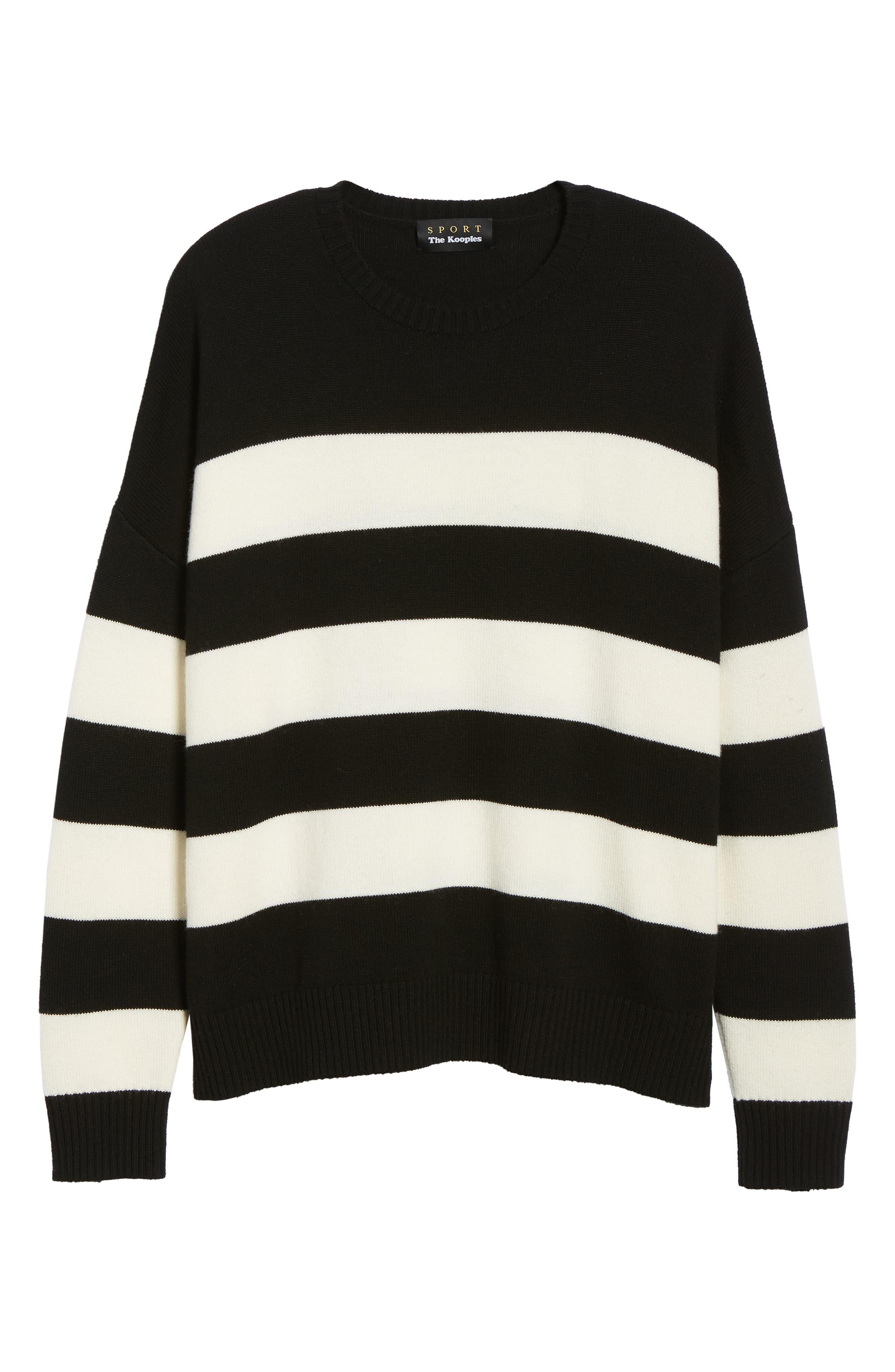 THE KOOPLES,                             Classic Fit Striped Sweater,                             Alternate thumbnail 6, color,                             001