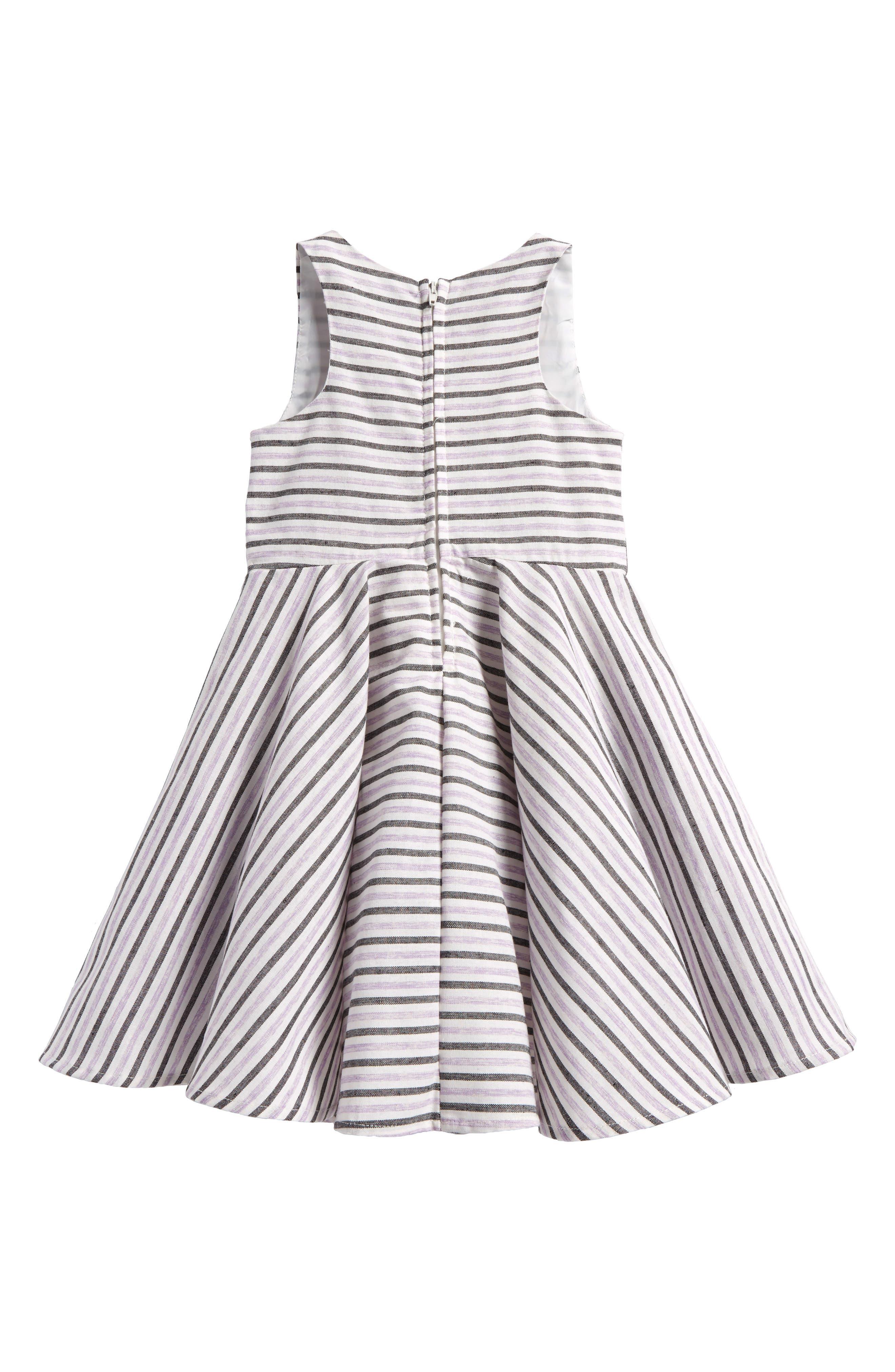 Stripe Cotton Dress,                             Alternate thumbnail 2, color,