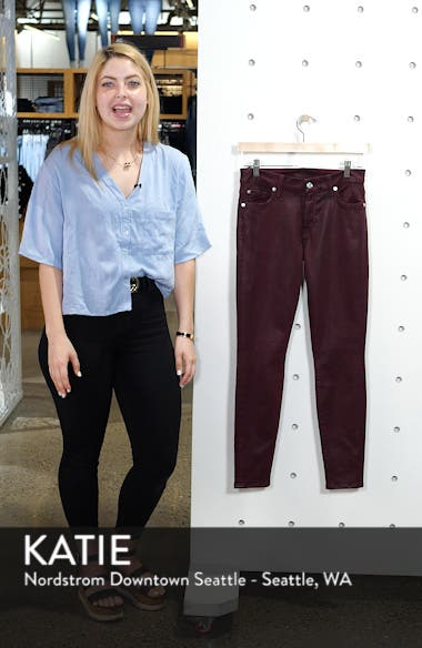 Coated Ankle Skinny Jeans, sales video thumbnail