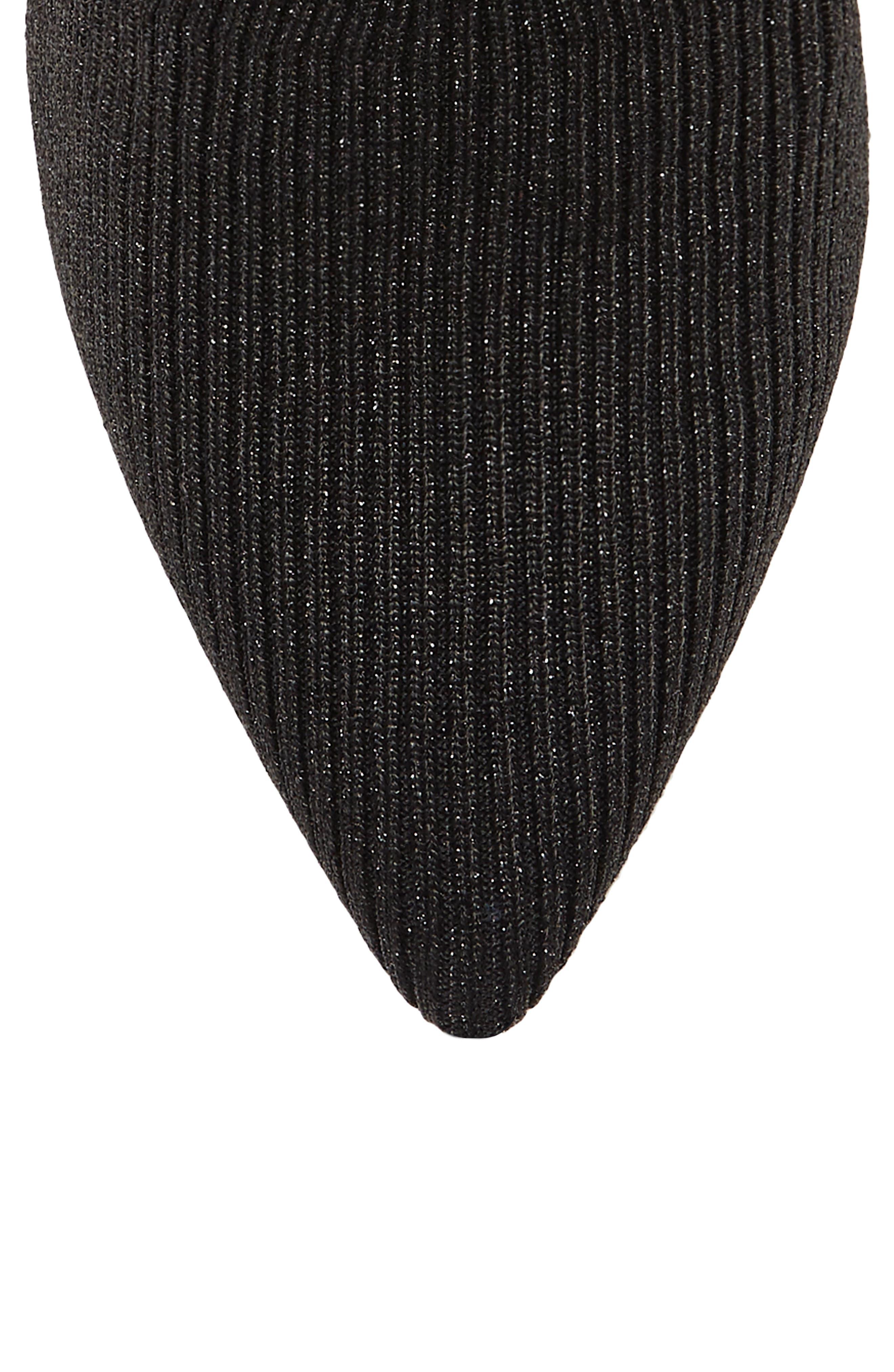Roreeta Sock Boot,                             Alternate thumbnail 8, color,                             BLACK FABRIC