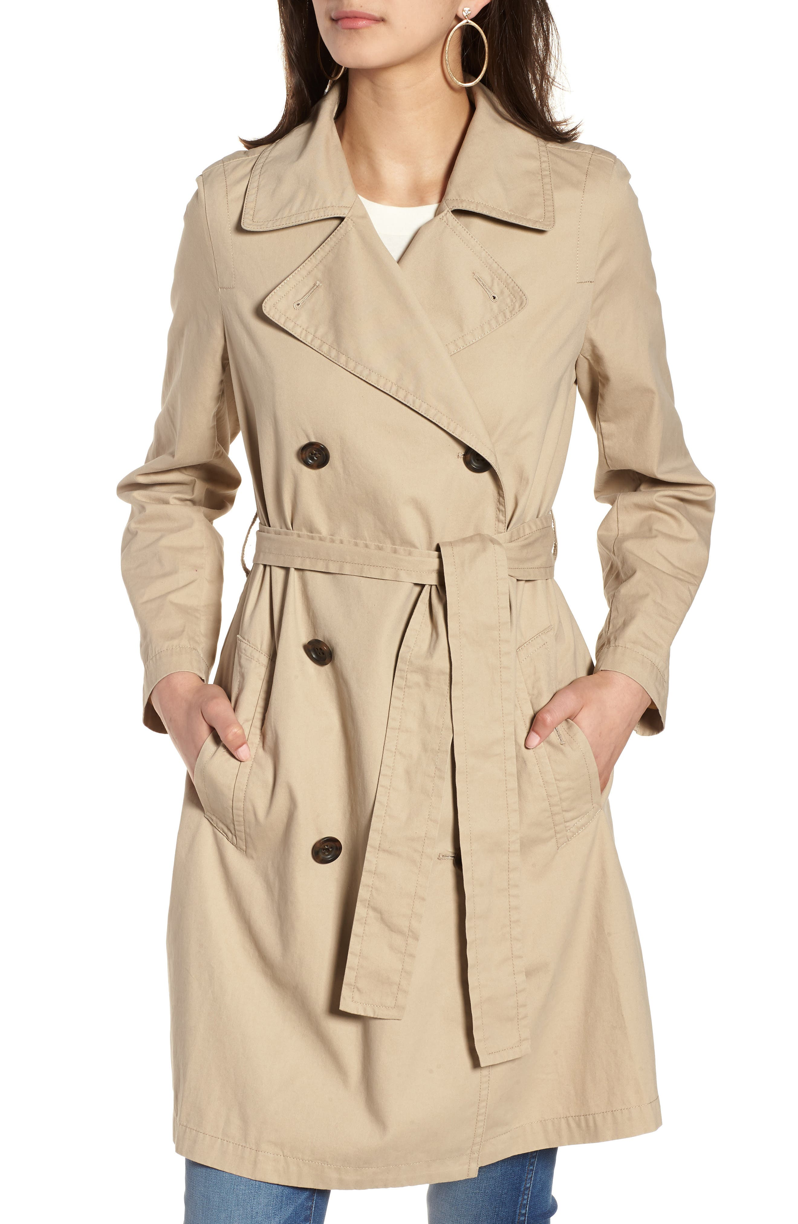 MADEWELL,                             Abroad Trench Coat,                             Alternate thumbnail 4, color,                             250