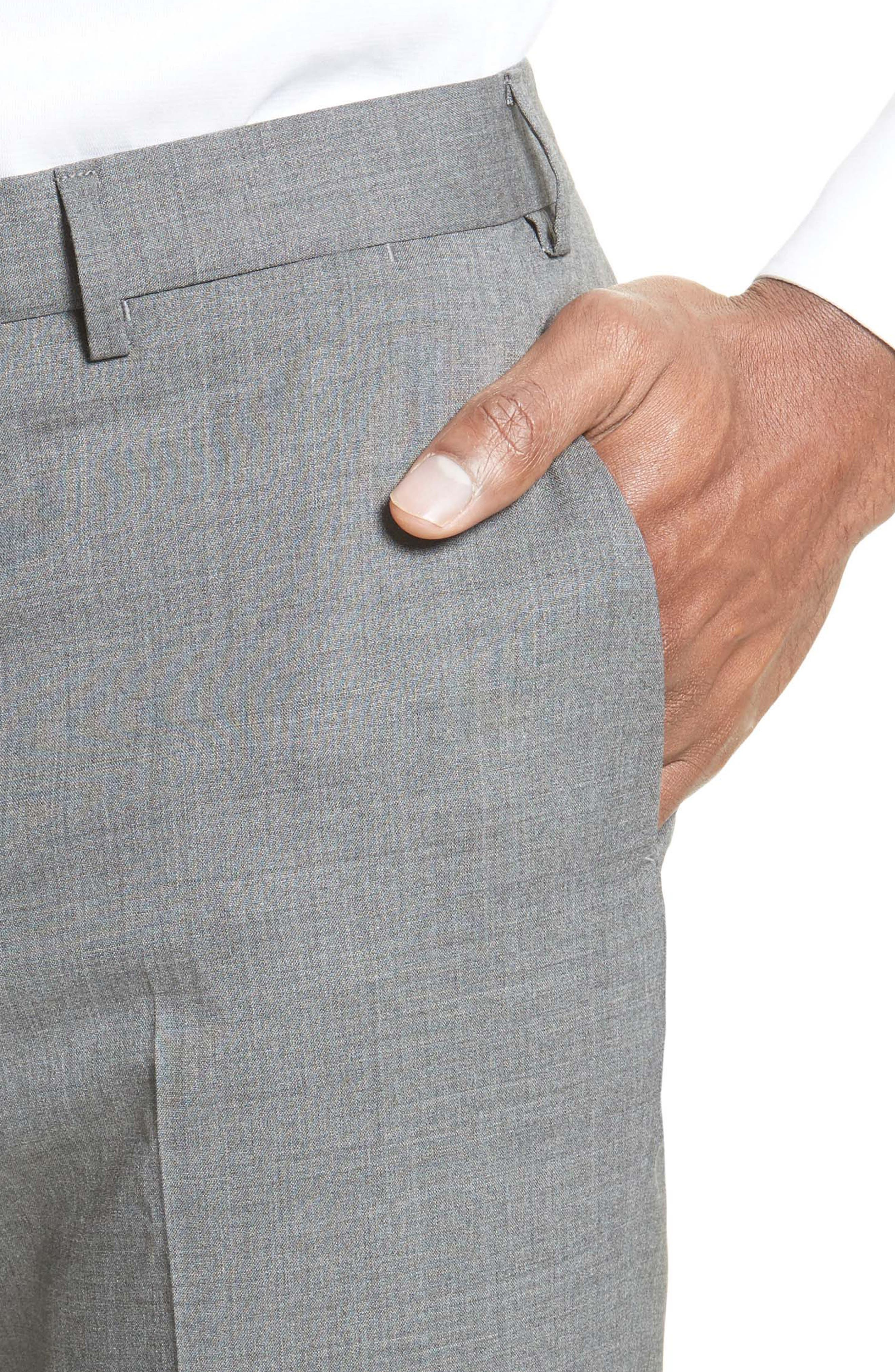 Tropical Wool Suit Trousers,                             Alternate thumbnail 4, color,                             020
