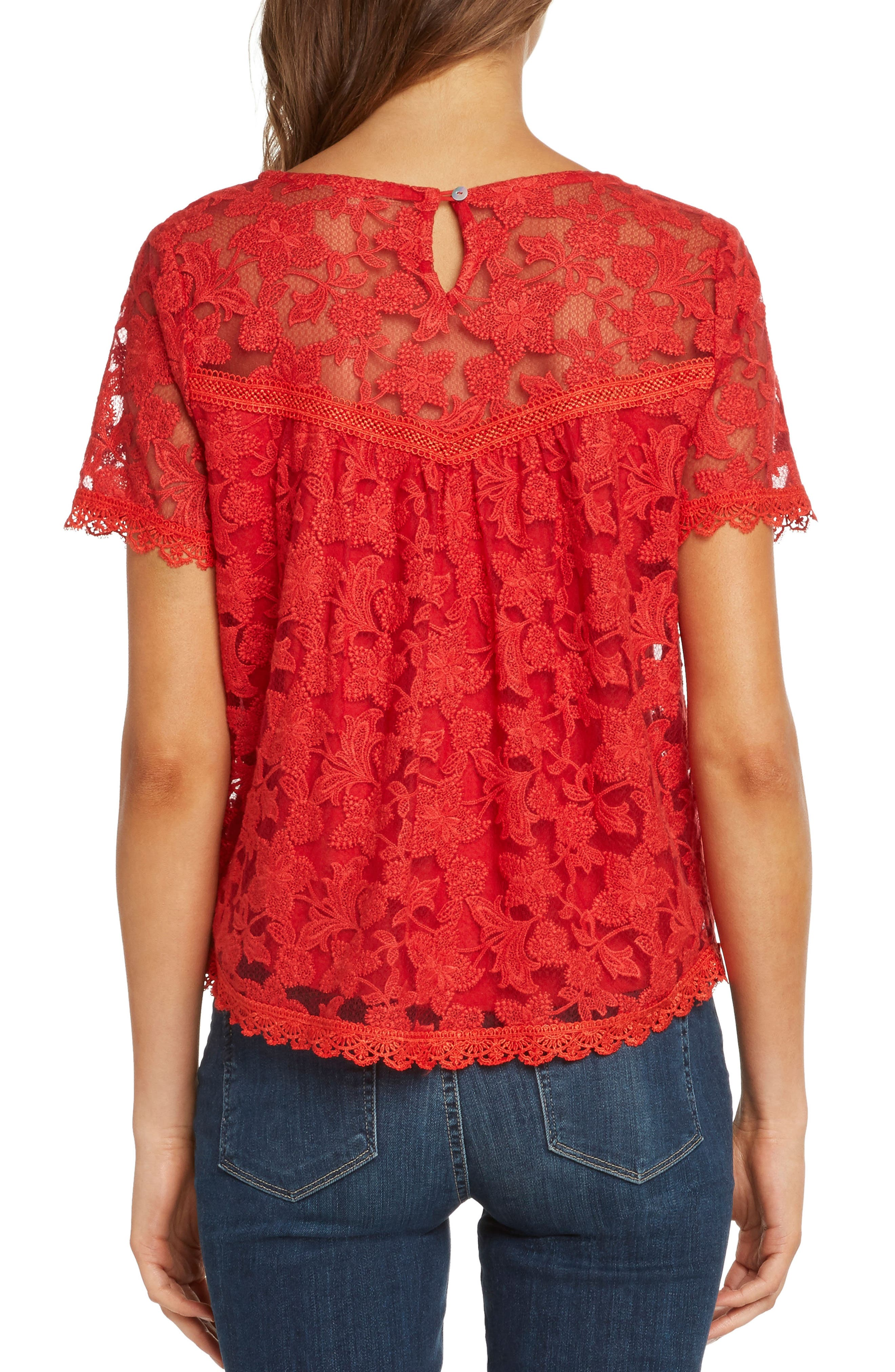 WILLOW & CLAY,                             Inset Detail Lace Top,                             Alternate thumbnail 2, color,                             643