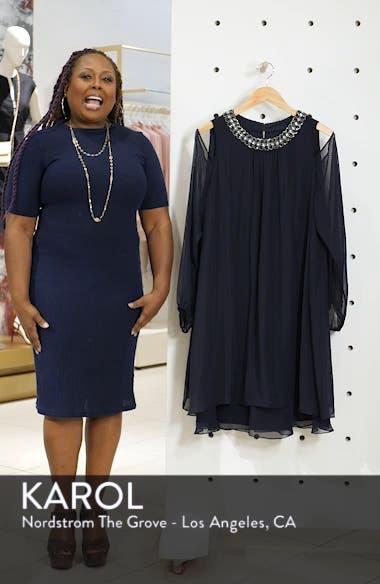 Embellished Cold Shoulder Shift Dress, sales video thumbnail