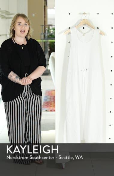 Drawstring Organic Cotton Midi Dress, sales video thumbnail