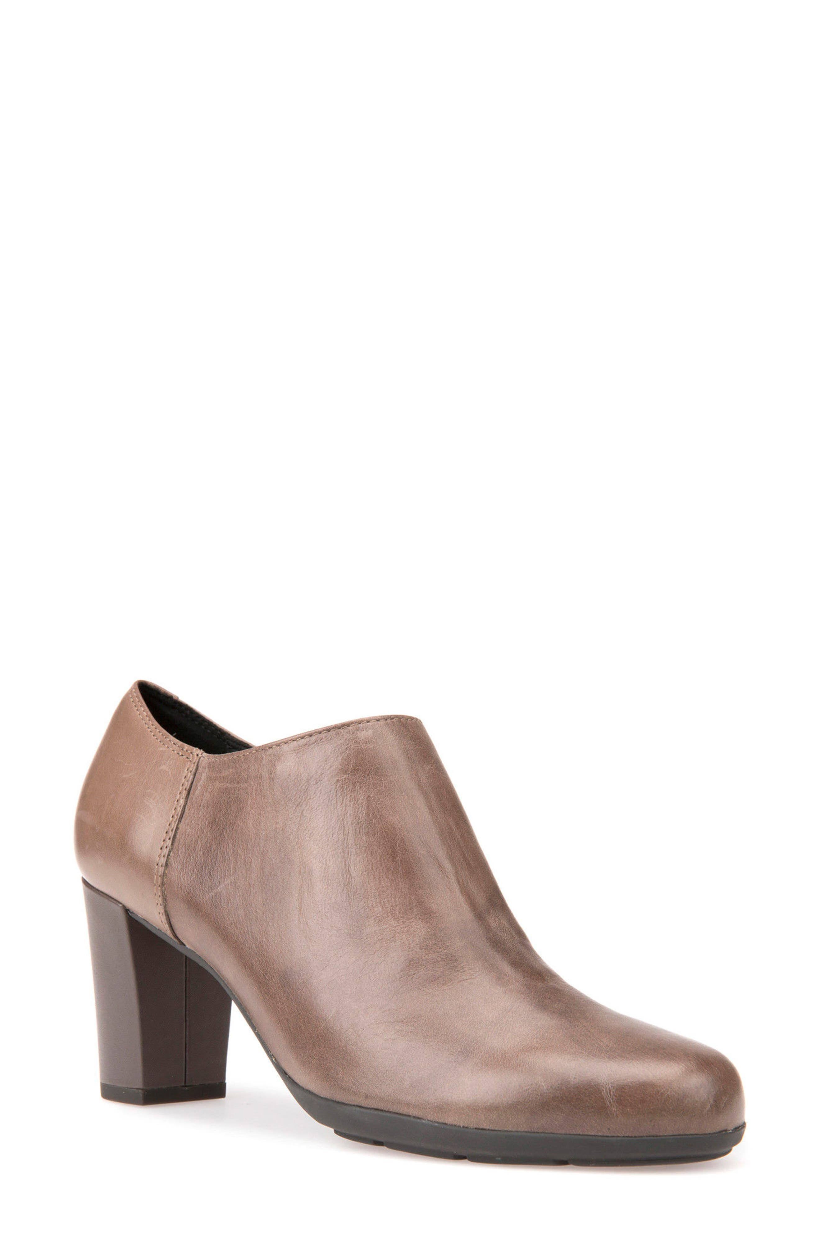 Annya Bootie,                             Main thumbnail 1, color,                             TAUPE LEATHER