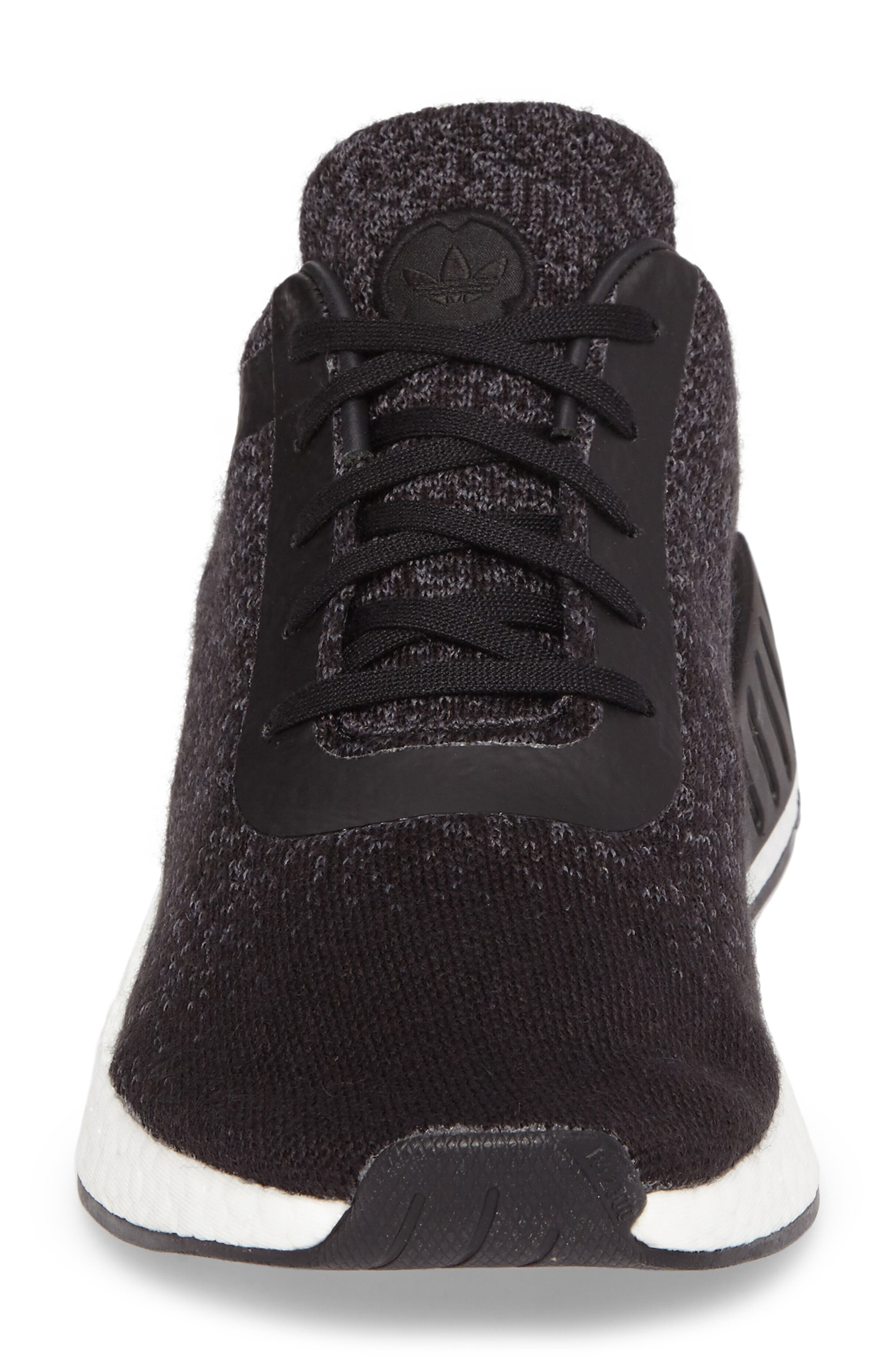 adidas x wings + horns Primeknit NMD_R2 Sneaker,                             Alternate thumbnail 4, color,                             001