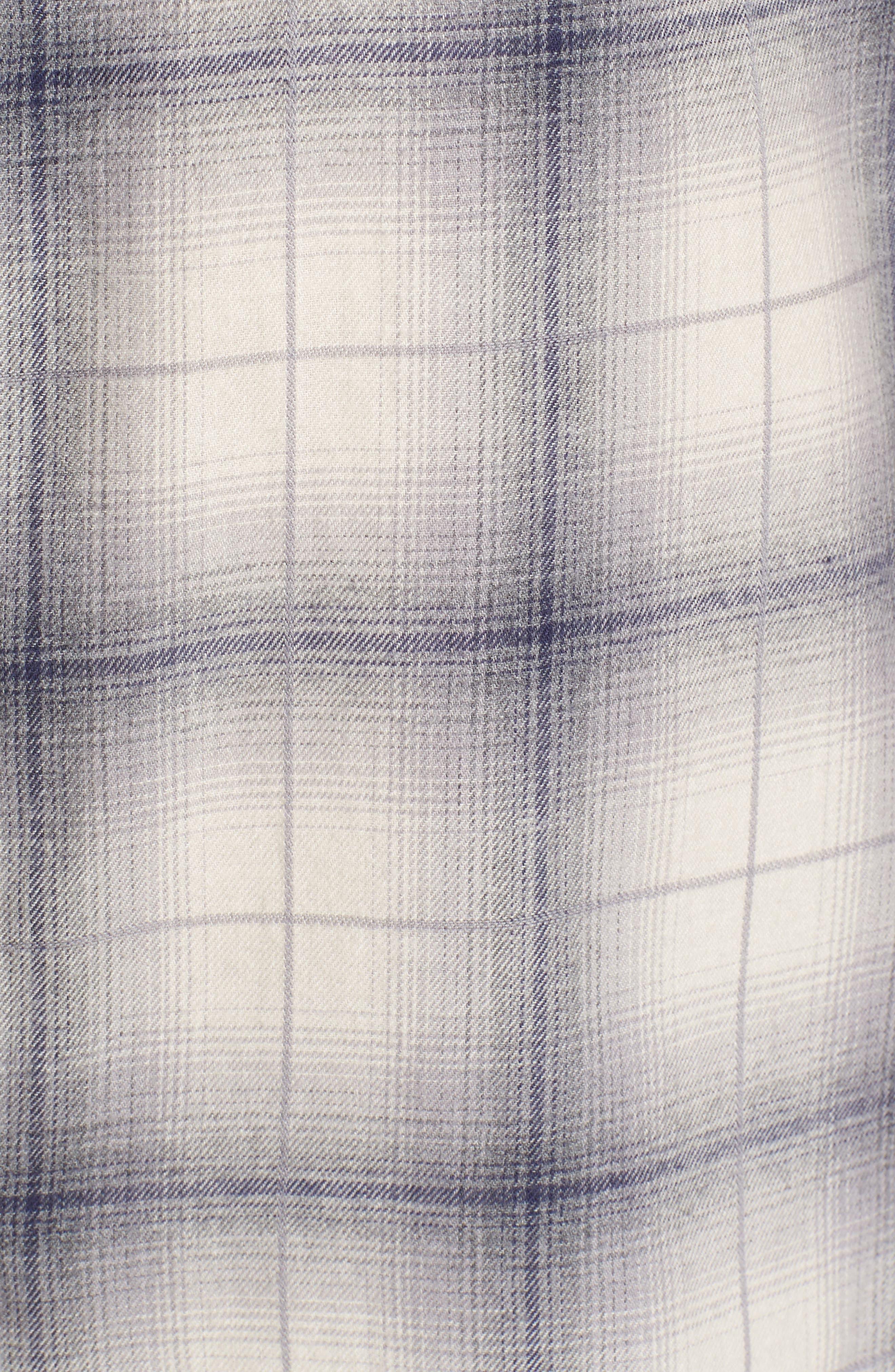 Kirby Slim Fit Plaid Flannel Shirt,                             Alternate thumbnail 5, color,                             070