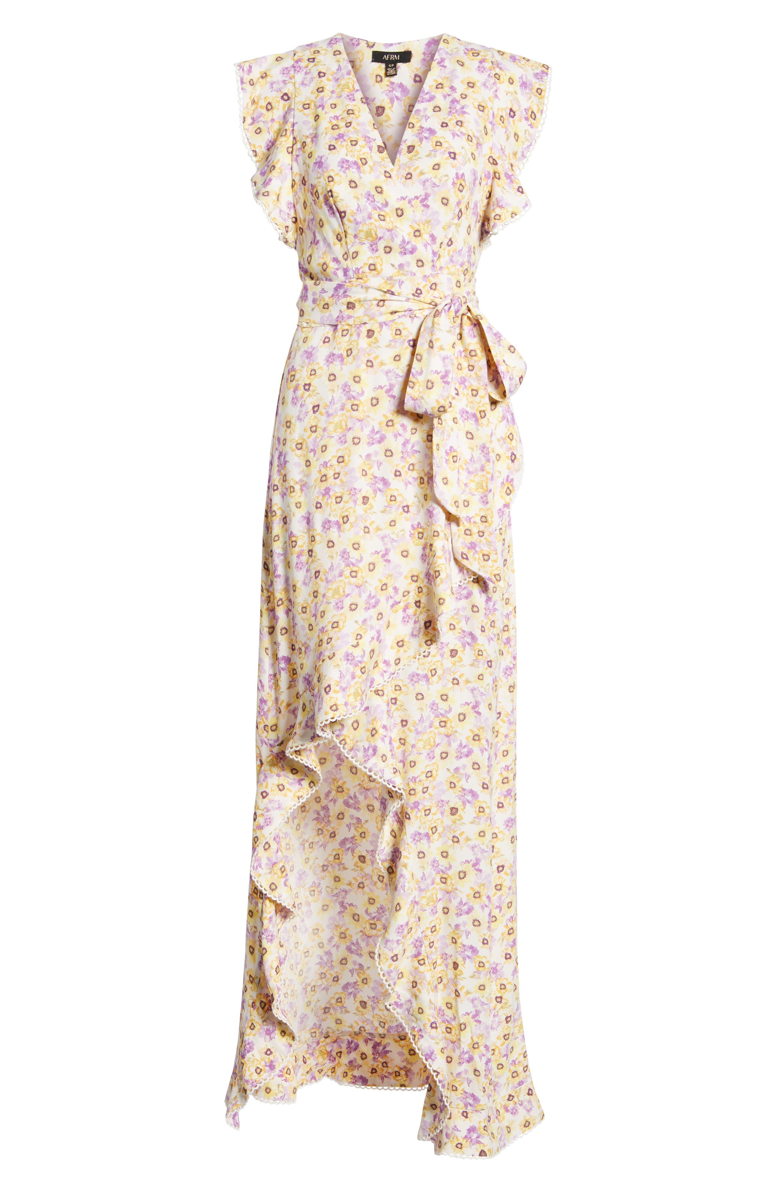 Andrea Ruffle Wrap Dress,                             Alternate thumbnail 18, color,