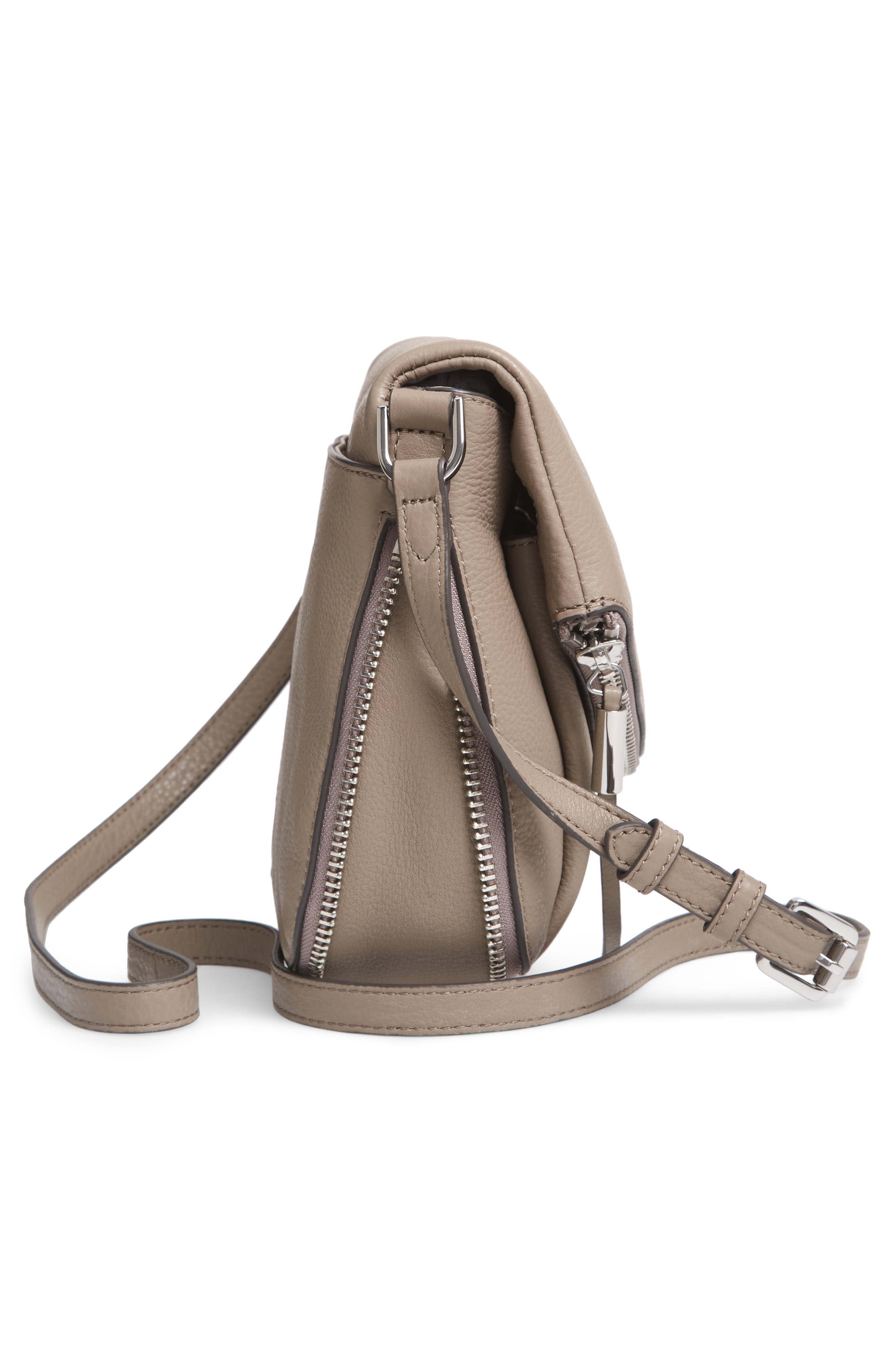 Key Leather Crossbody Bag,                             Alternate thumbnail 5, color,                             TRANQUILITY