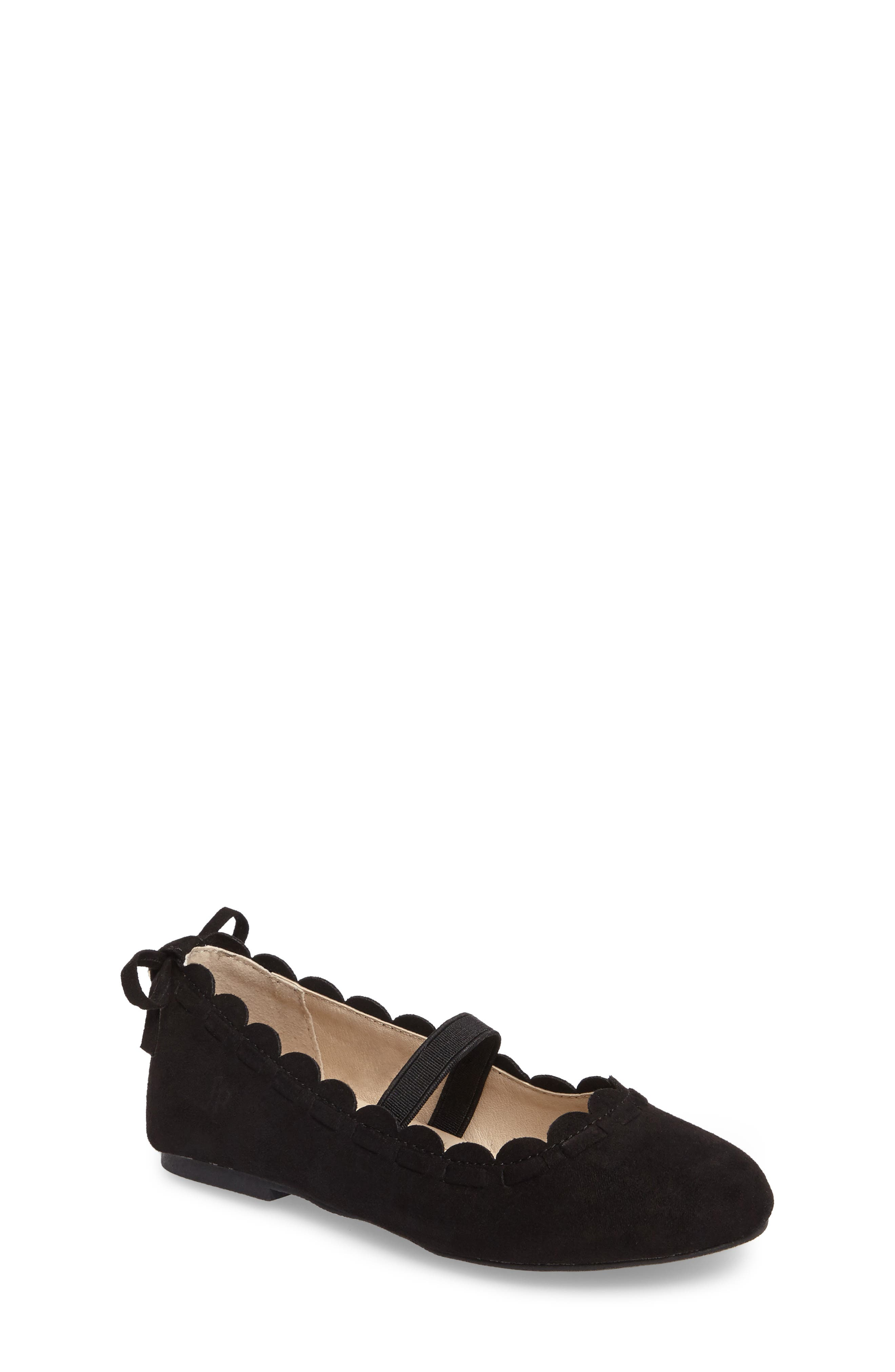 Little Miss Lucie Scalloped Mary Jane Flat,                         Main,                         color, 001