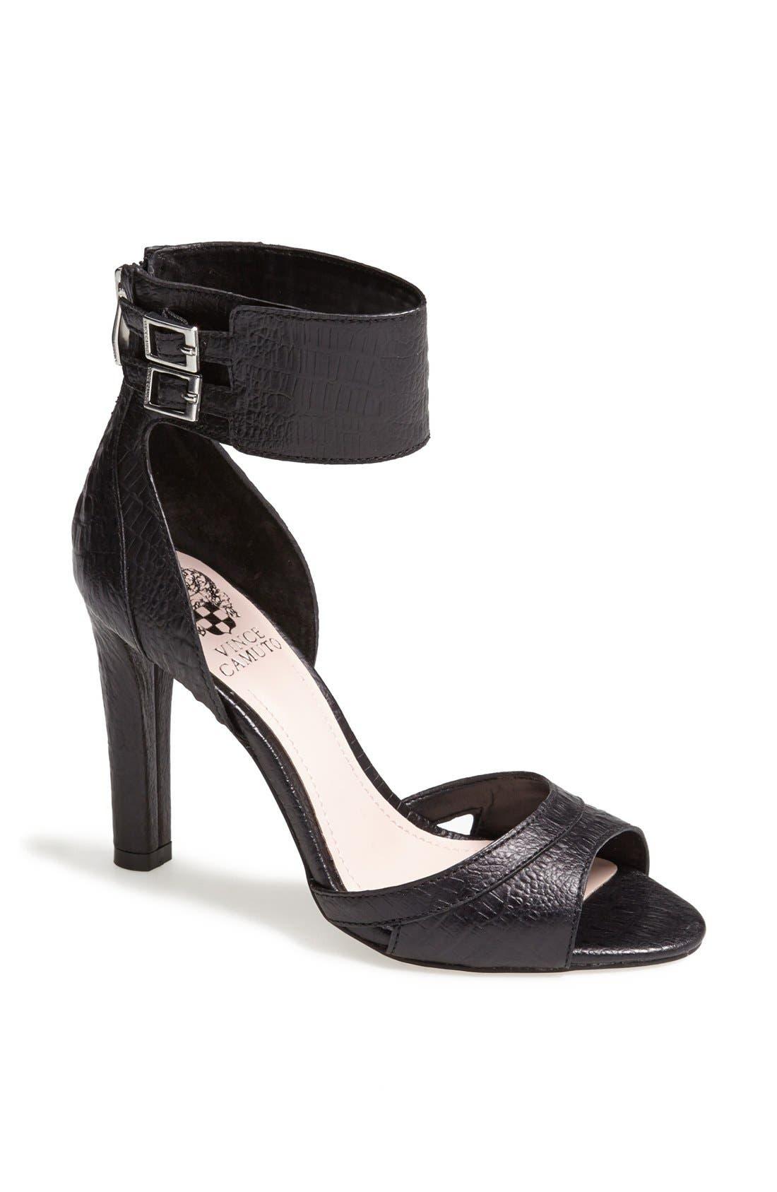 'Oljera' Leather Sandal,                             Main thumbnail 1, color,                             001