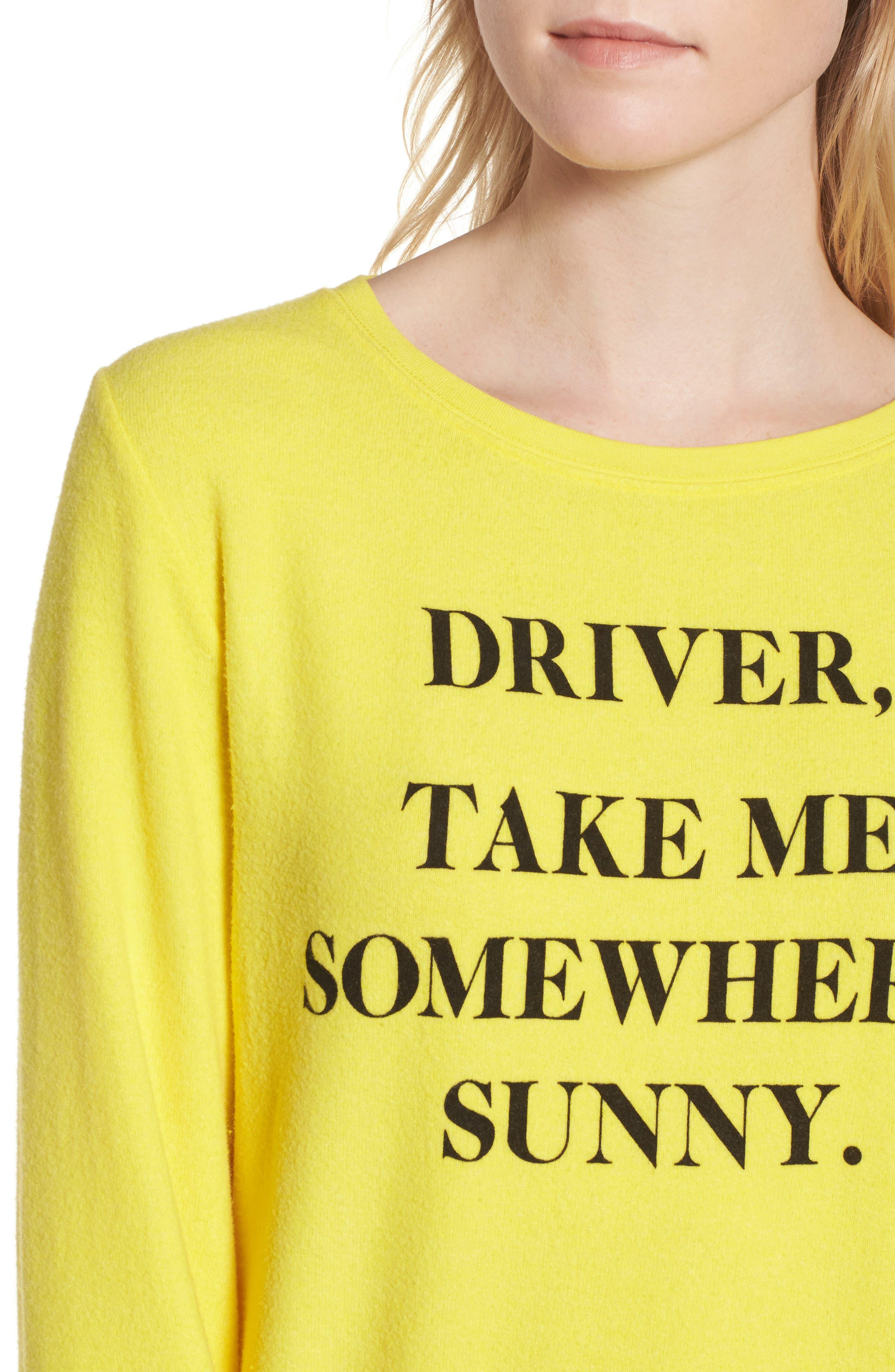 'Somewhere Sunny' Sweatshirt,                             Alternate thumbnail 4, color,                             730