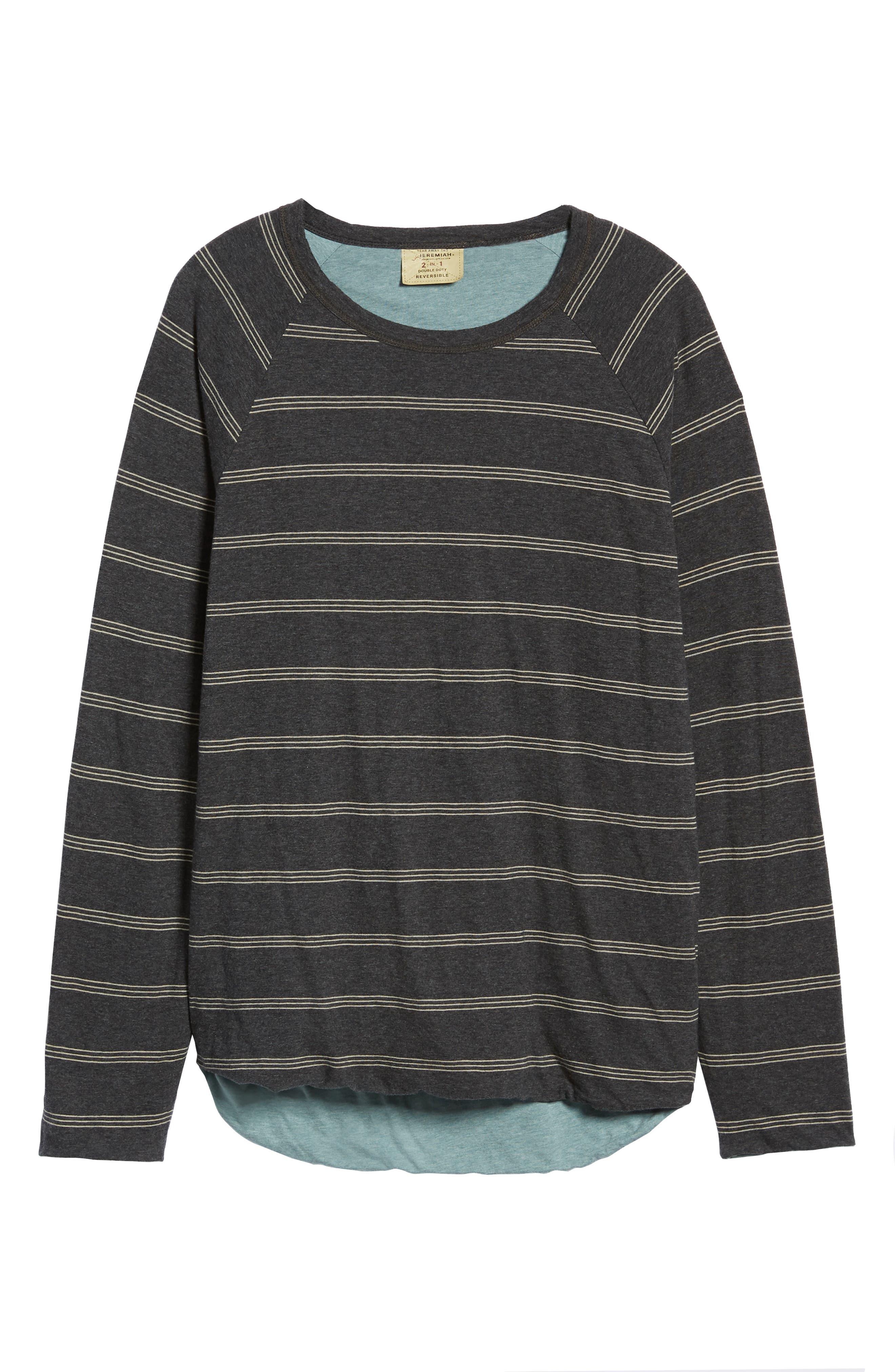 Gunnison Reversible Raglan Sleeve T-Shirt,                             Alternate thumbnail 7, color,                             PHANTOM HEATHER