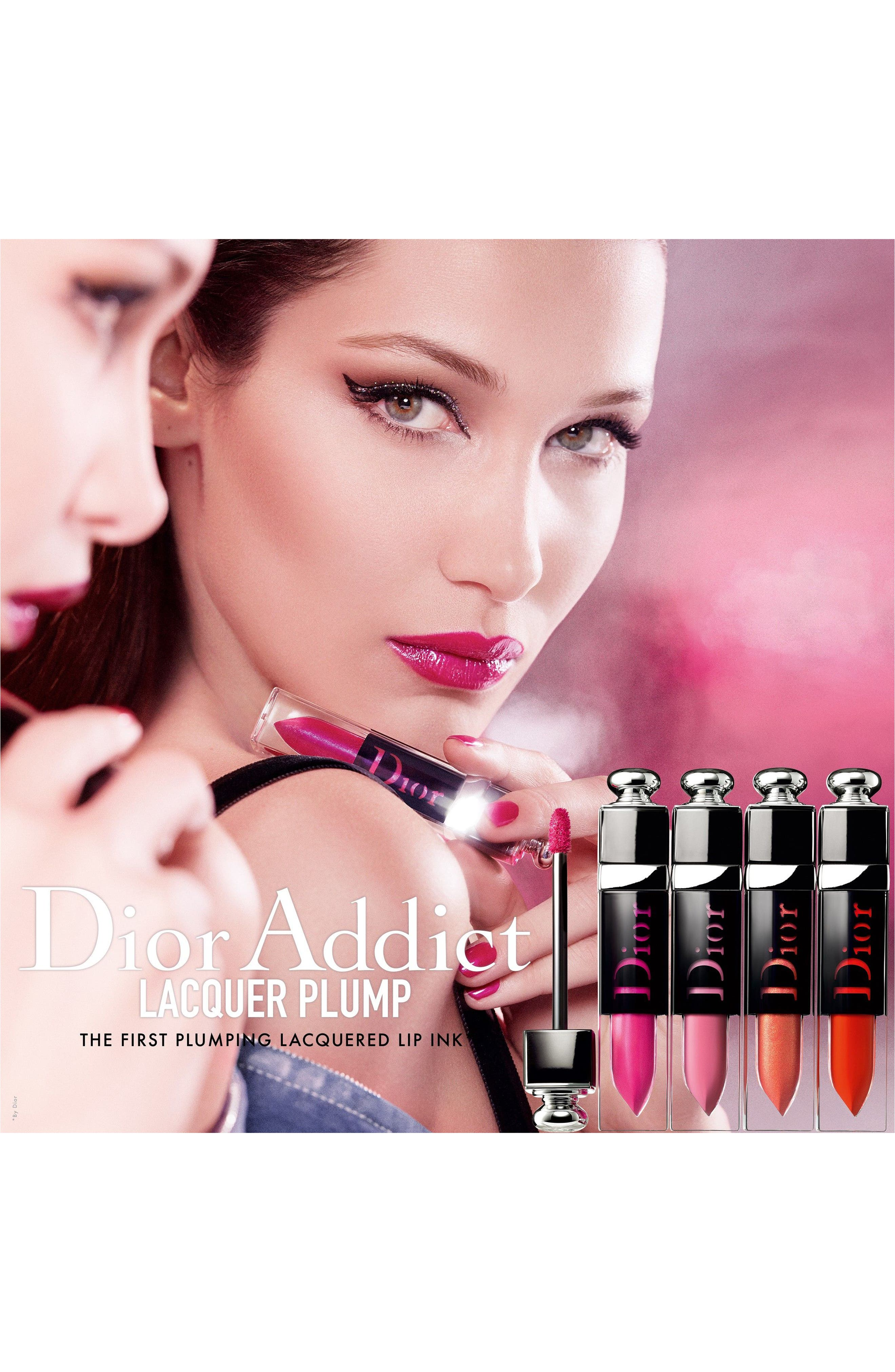 DIOR,                             Addict Lip Plumping Lacquer Ink,                             Alternate thumbnail 4, color,                             926 D-FANCY / BOLD CHOCOLATE