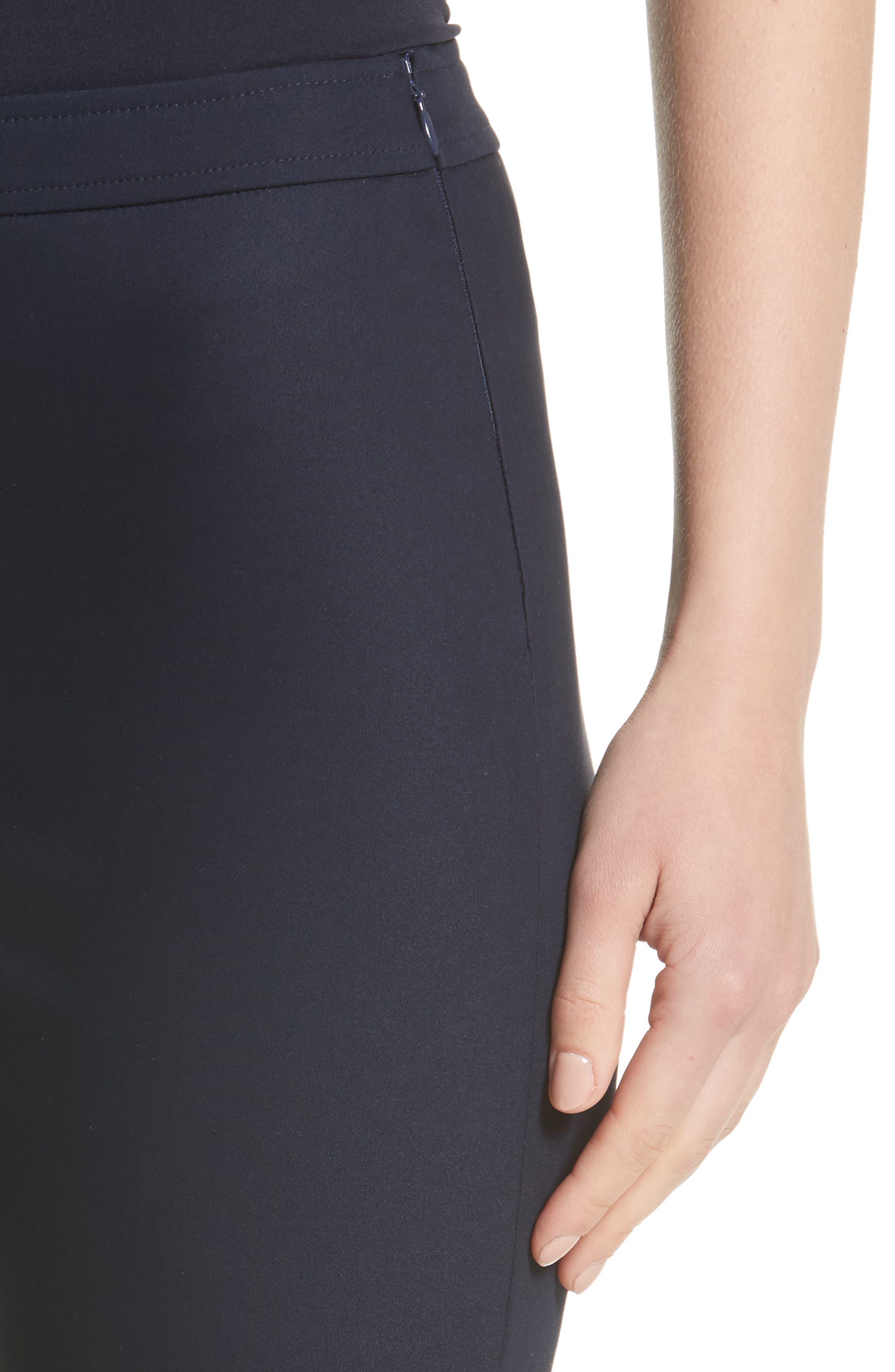 Alexa Scuba Slim Crop Pants,                             Alternate thumbnail 4, color,                             NAVY