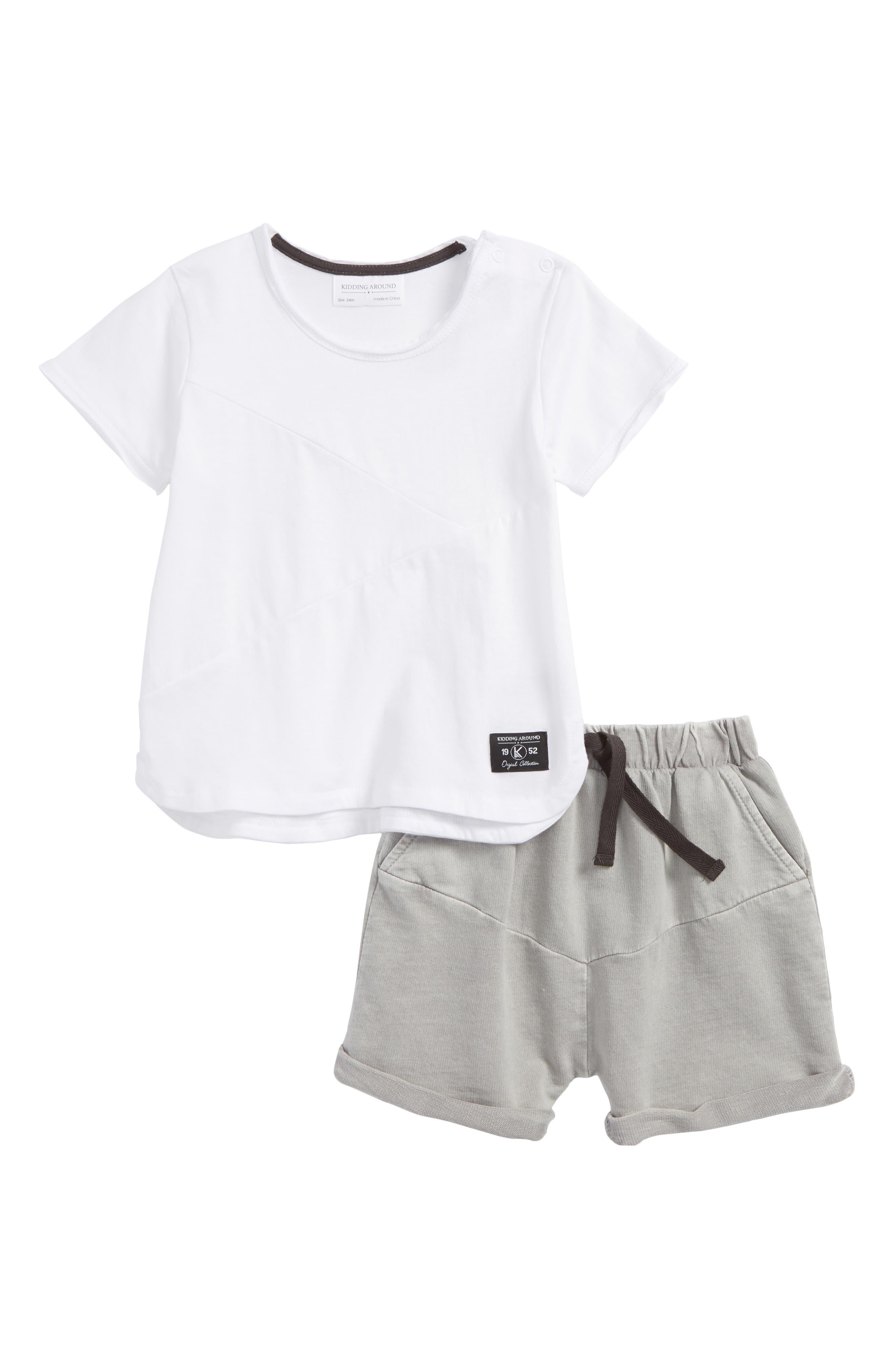 T-Shirt & Shorts Set,                         Main,                         color, 100