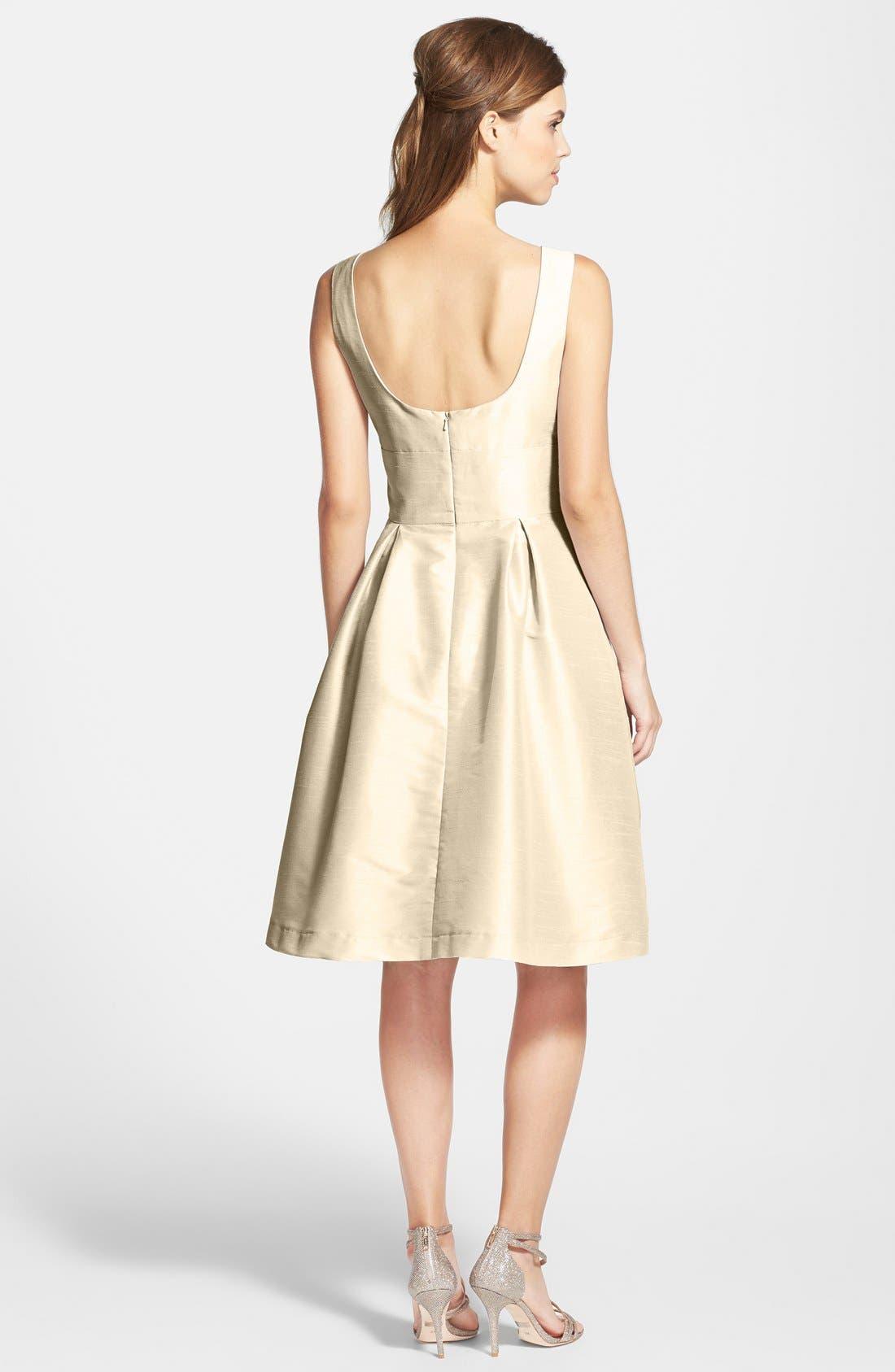 Dupioni Fit & Flare Dress,                             Alternate thumbnail 30, color,
