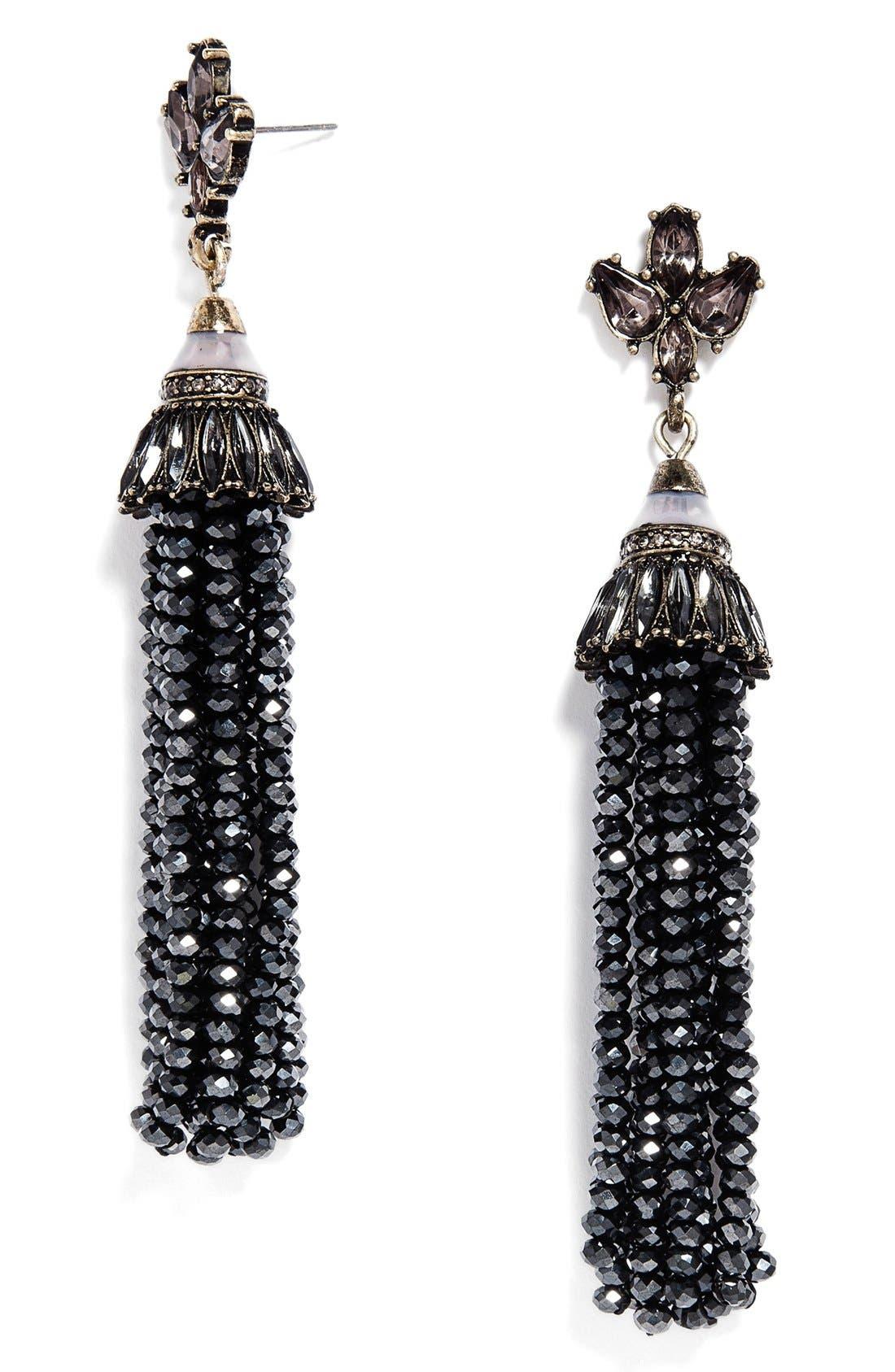 'Tinsel' Tassel Drop Earrings,                         Main,                         color, 001