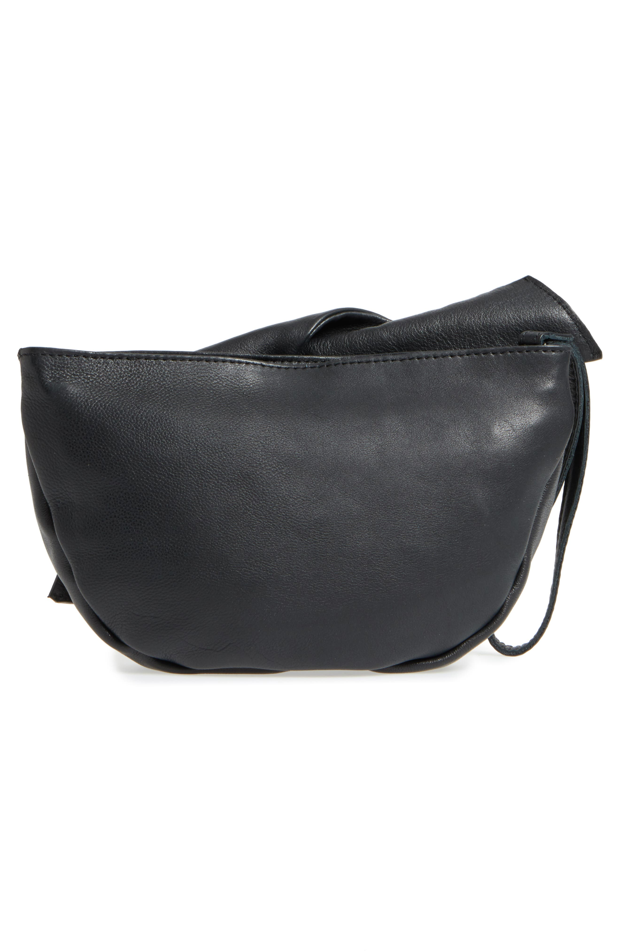 Jasmine Leather Clutch,                             Alternate thumbnail 5, color,
