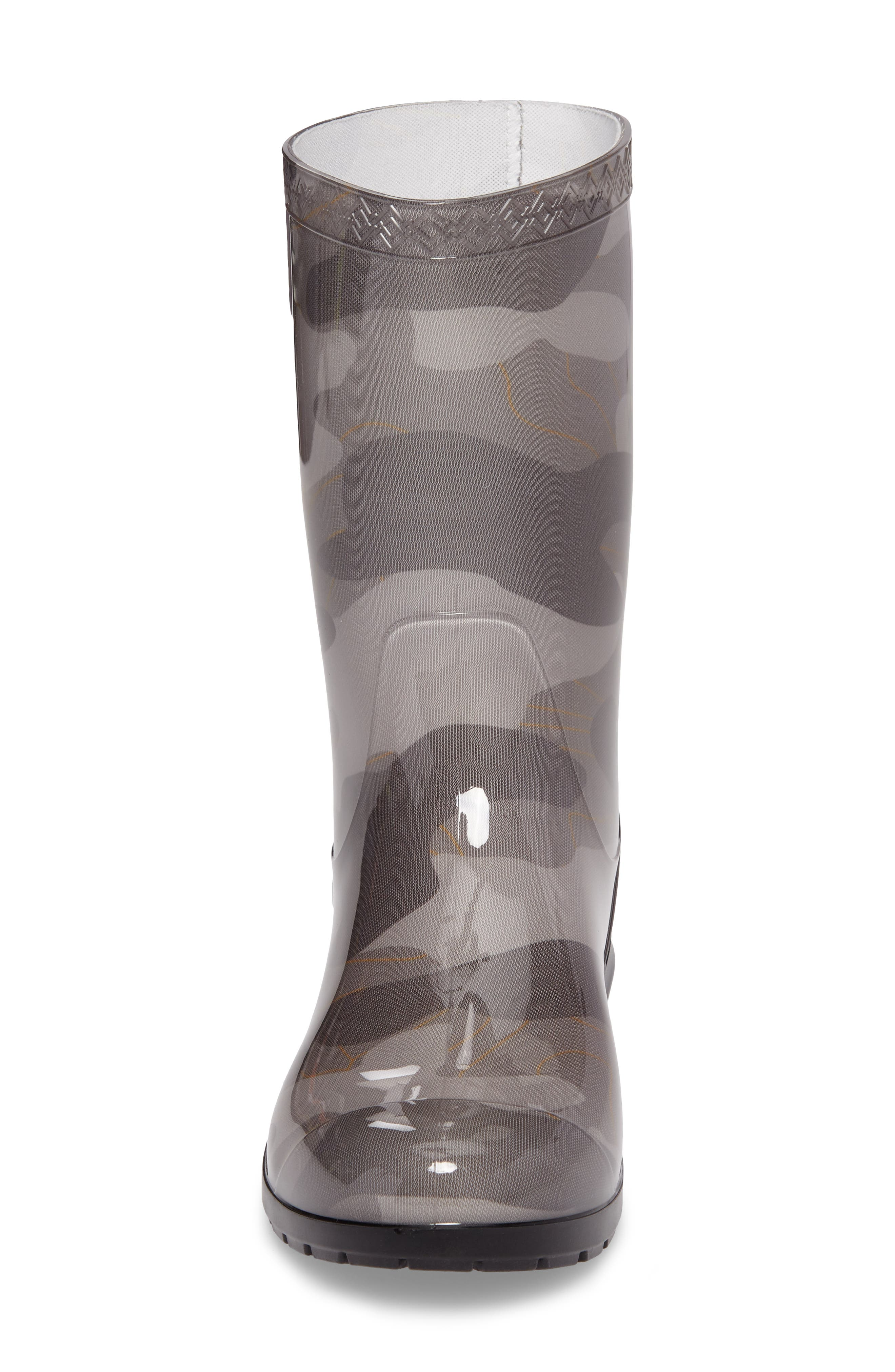 Rahjee Camo Waterproof Rain Boot,                             Alternate thumbnail 4, color,                             020