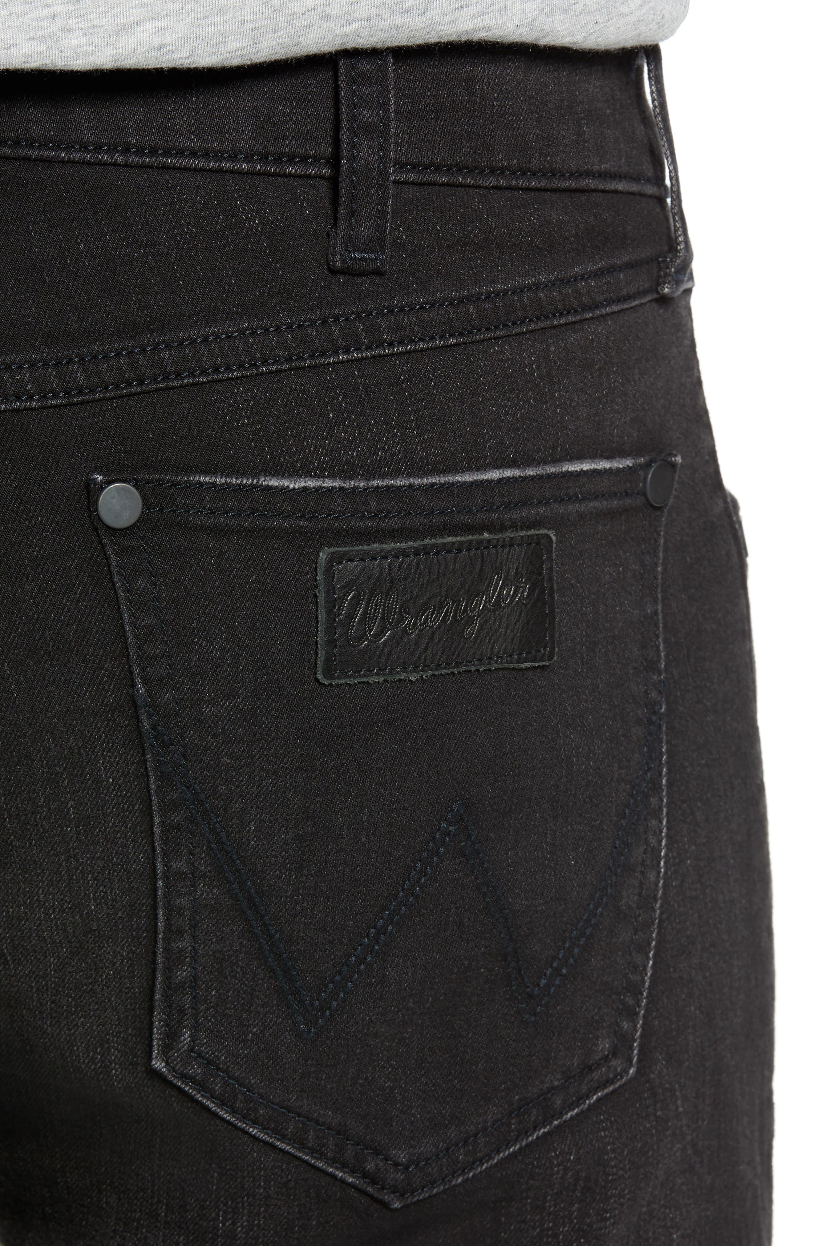 Greensboro Straight Leg Jeans,                             Alternate thumbnail 4, color,                             BLACK
