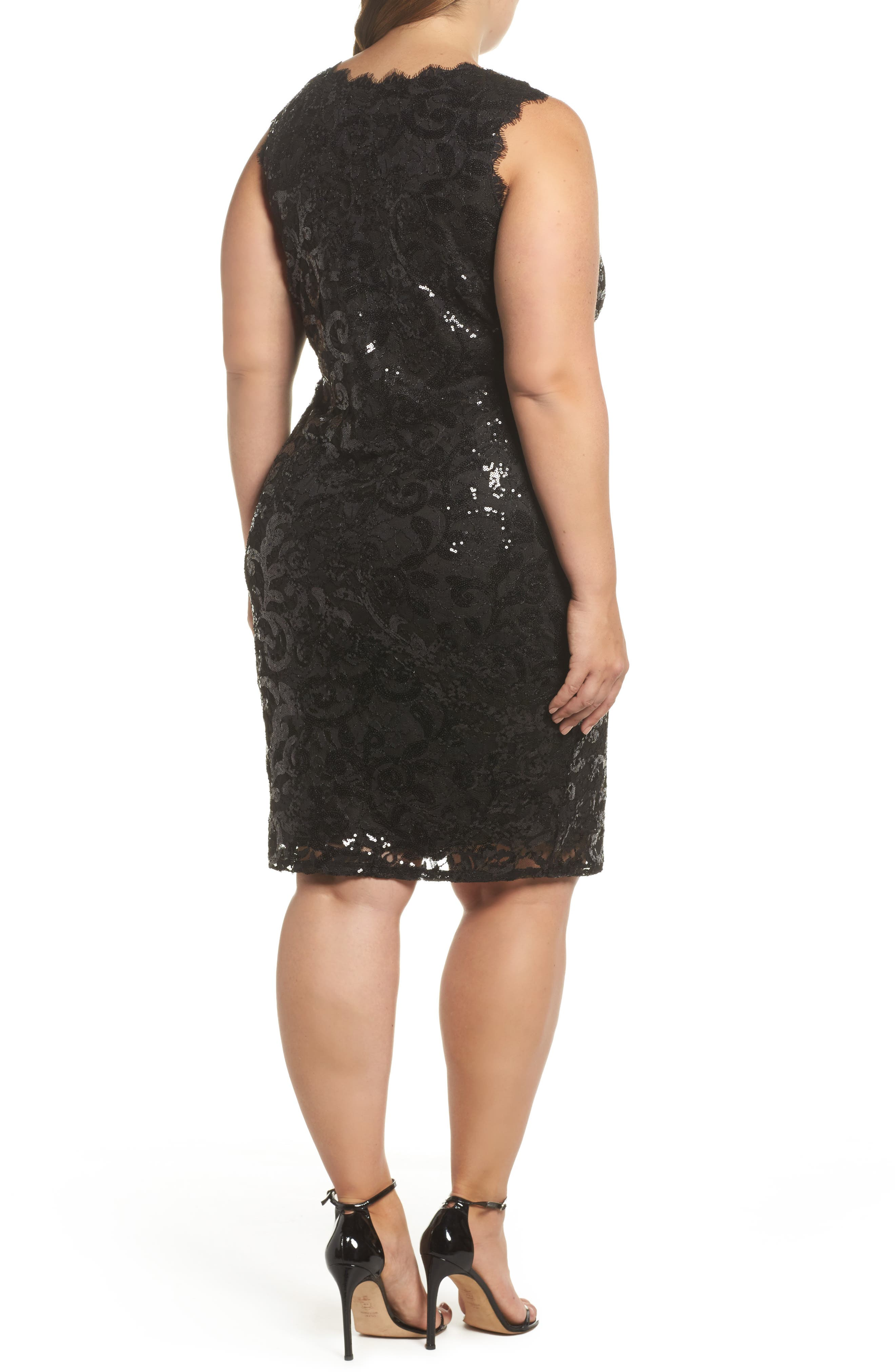 Sequin Lace Party Dress,                             Alternate thumbnail 2, color,                             001
