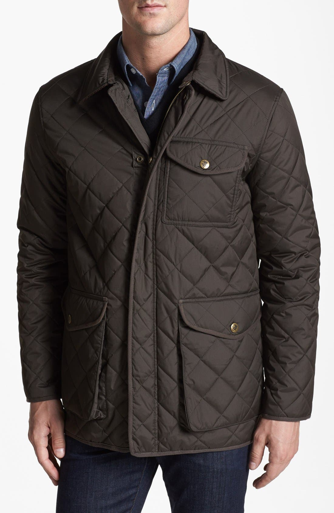 'Middlebury' Quilted Jacket, Main, color, 346