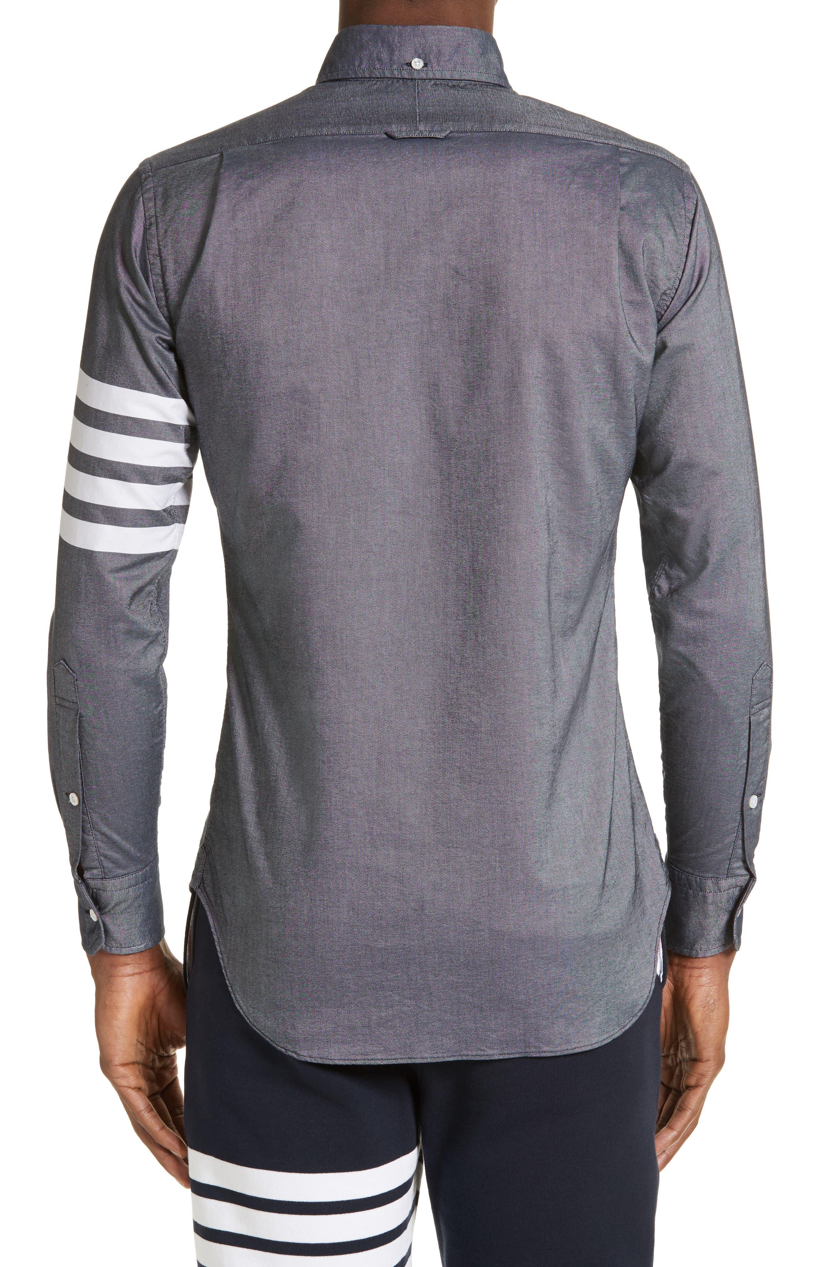 Trim Fit Classic 4-Bar Oxford Shirt,                             Alternate thumbnail 3, color,                             420