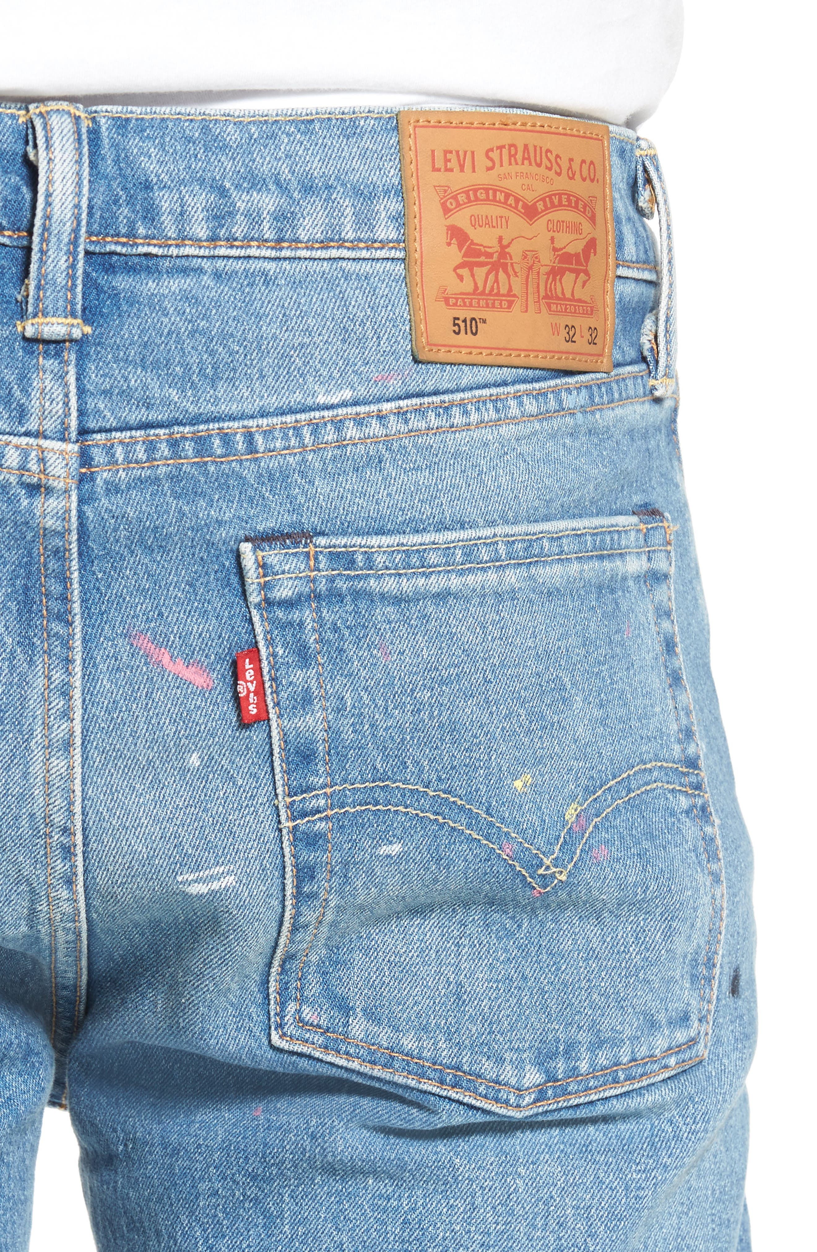 LEVI'S<SUP>®</SUP>,                             510<sup>™</sup> Skinny Fit Jeans,                             Alternate thumbnail 4, color,                             421