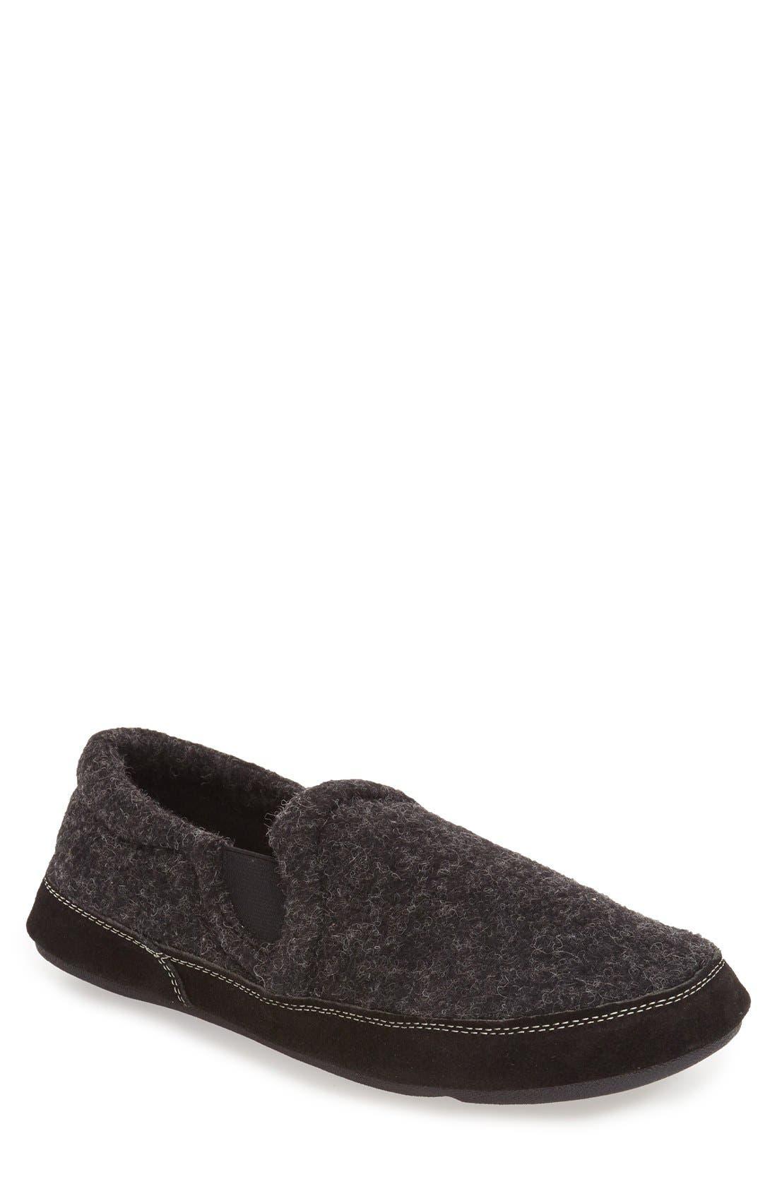 'Fave' Slipper,                         Main,                         color, BLACK
