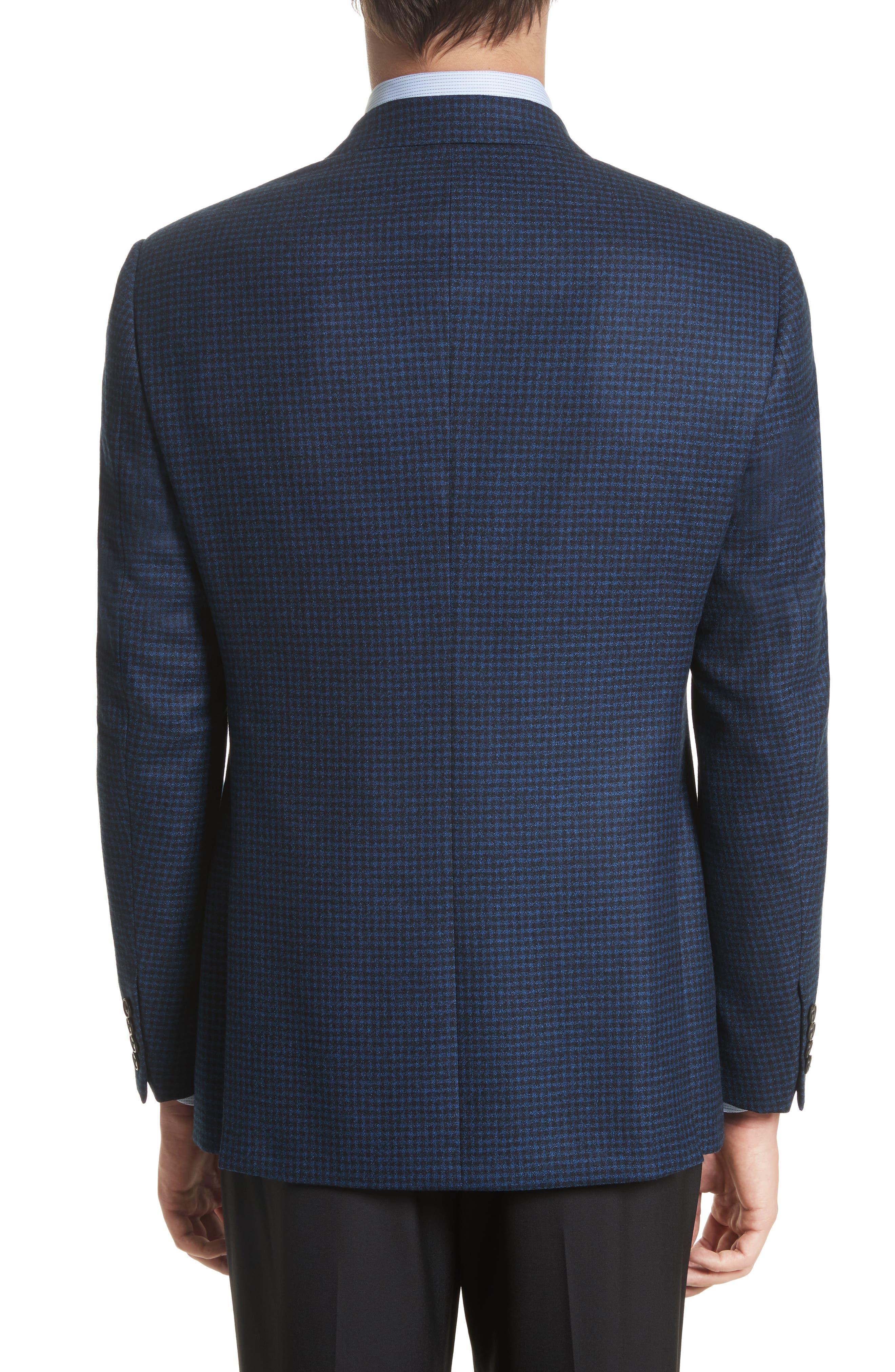 ARMANI COLLEZIONI,                             G-Line Trim Fit Check Wool Sport Coat,                             Alternate thumbnail 2, color,                             410