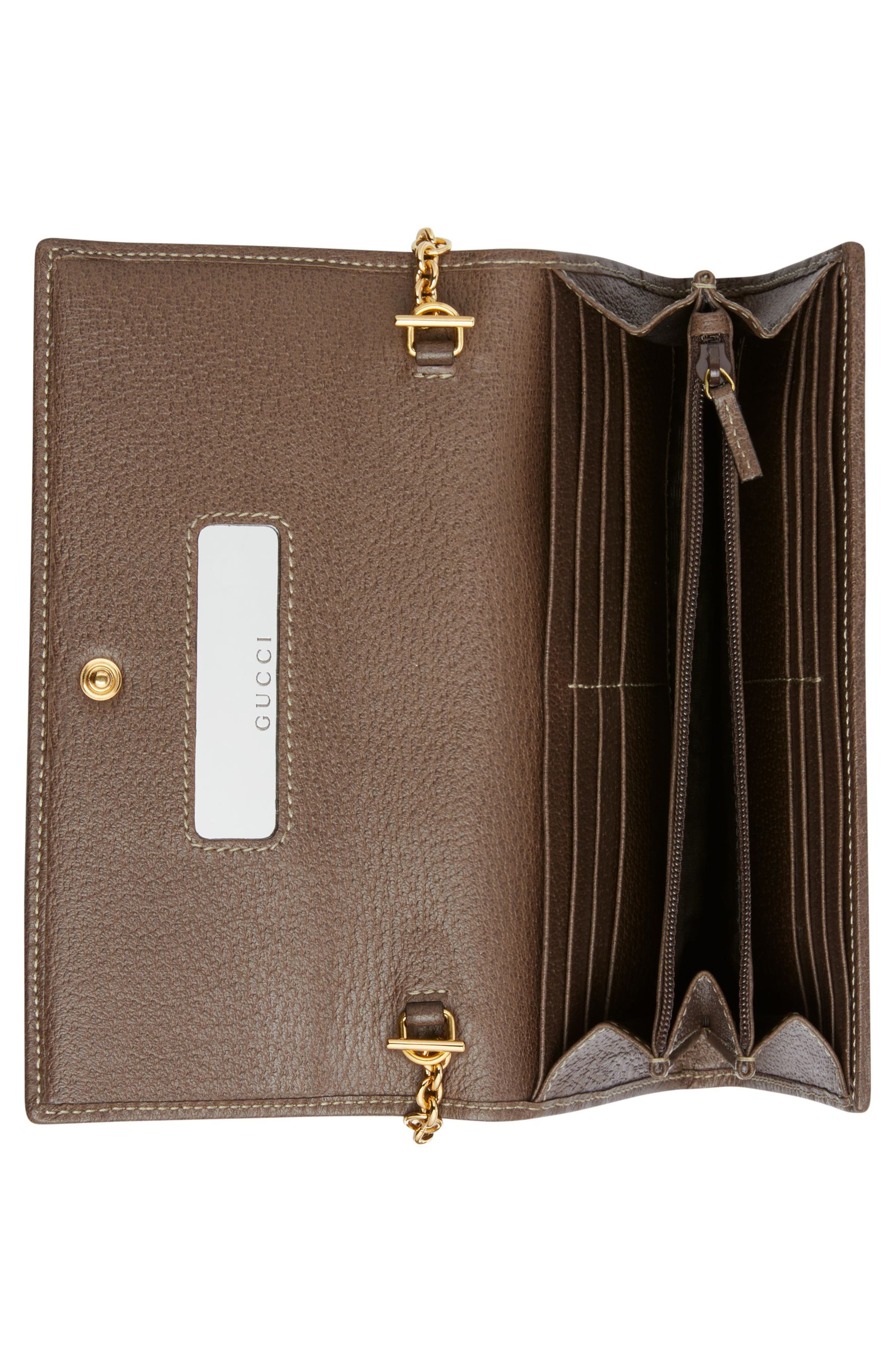 Ophidia GG Supreme Wallet on a Chain,                             Alternate thumbnail 3, color,                             BEIGE EBONY/ NEW ACERO