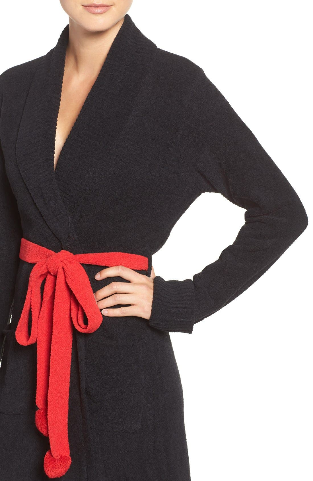 Sweater Robe,                             Alternate thumbnail 6, color,                             001
