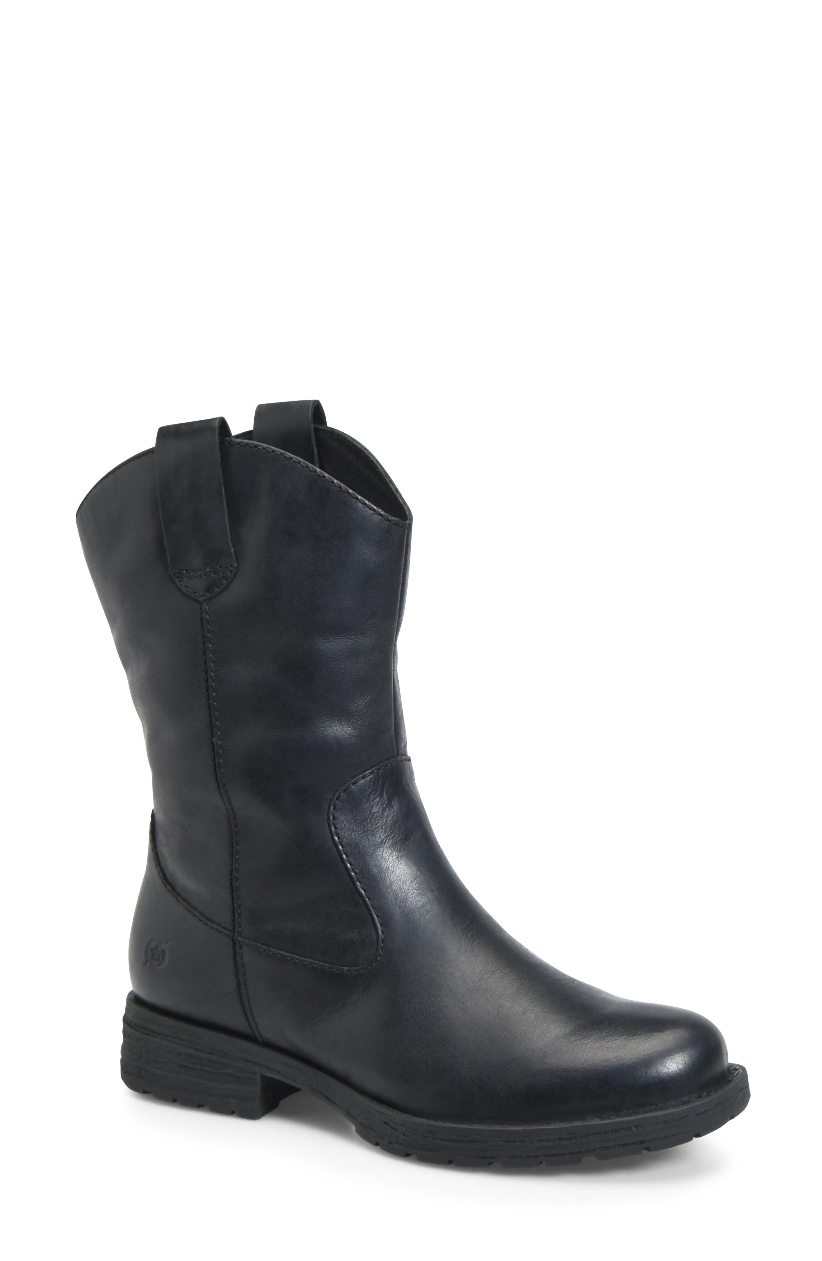 B?rn Basin Waterproof Western Boot- Black