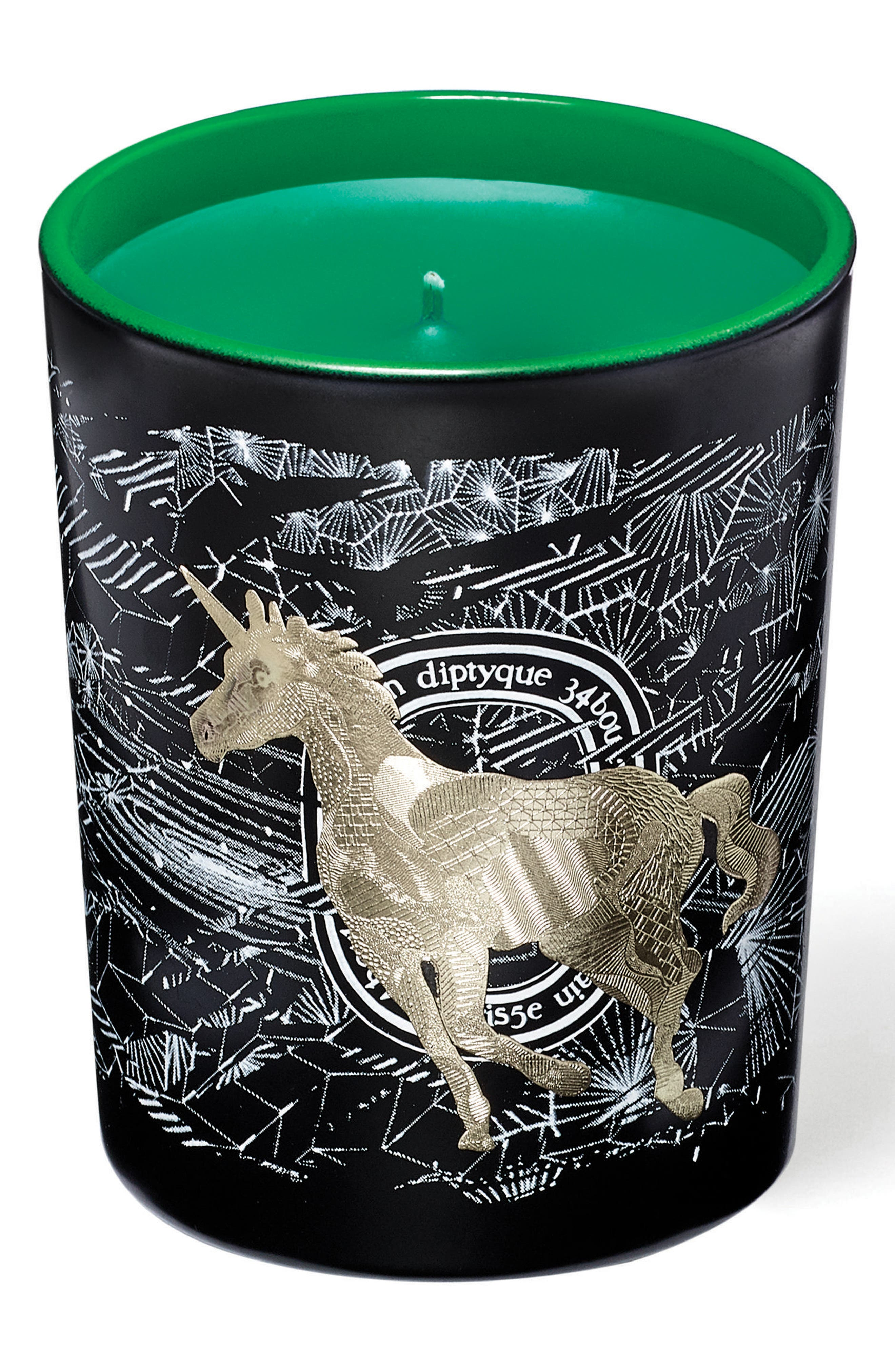Unicorn Frosted Forest Scented Candle,                             Main thumbnail 1, color,                             000