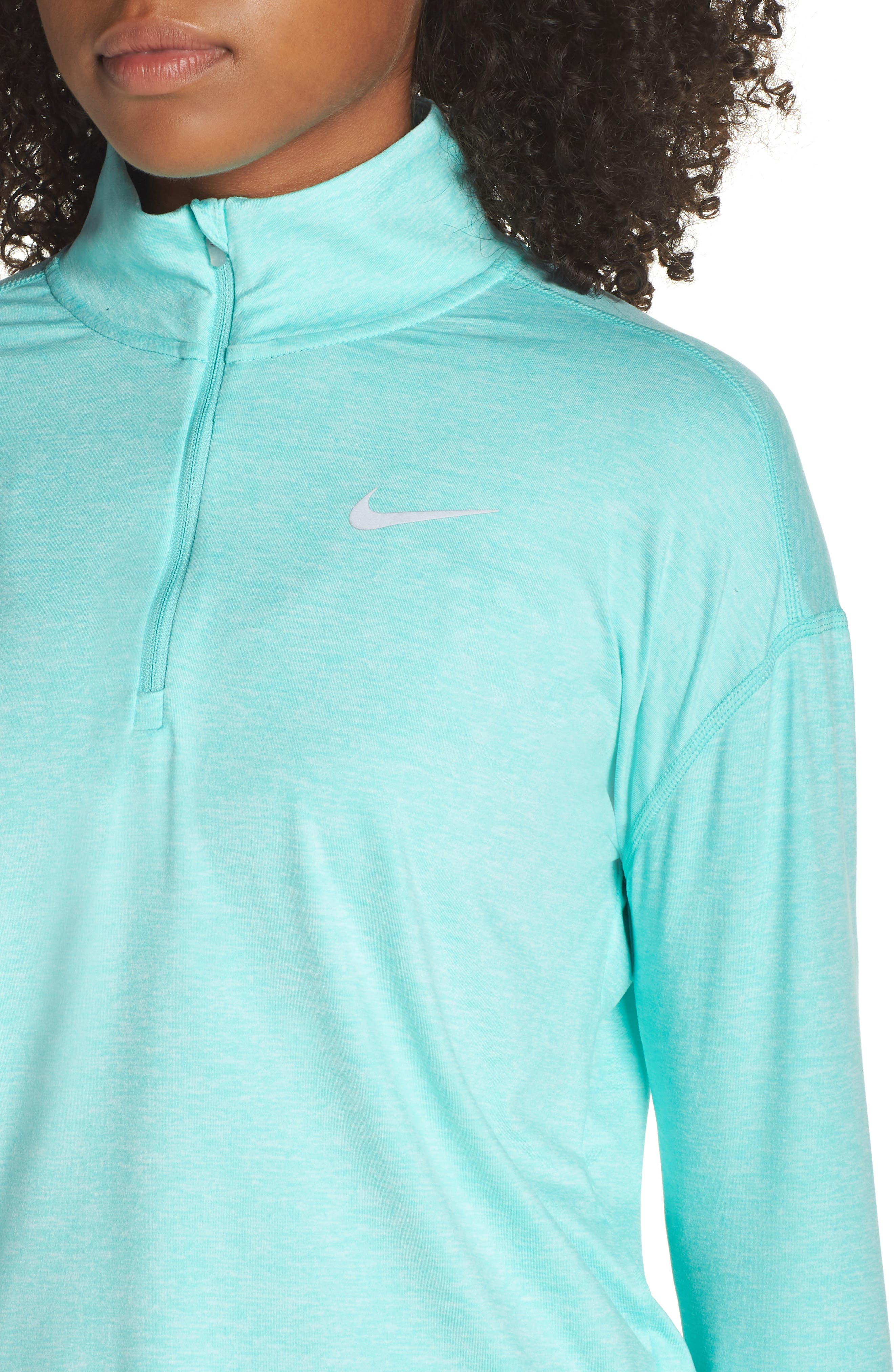 Element Long-Sleeve Running Top,                             Alternate thumbnail 4, color,                             TROPICAL TWIST/ TEAL TINT