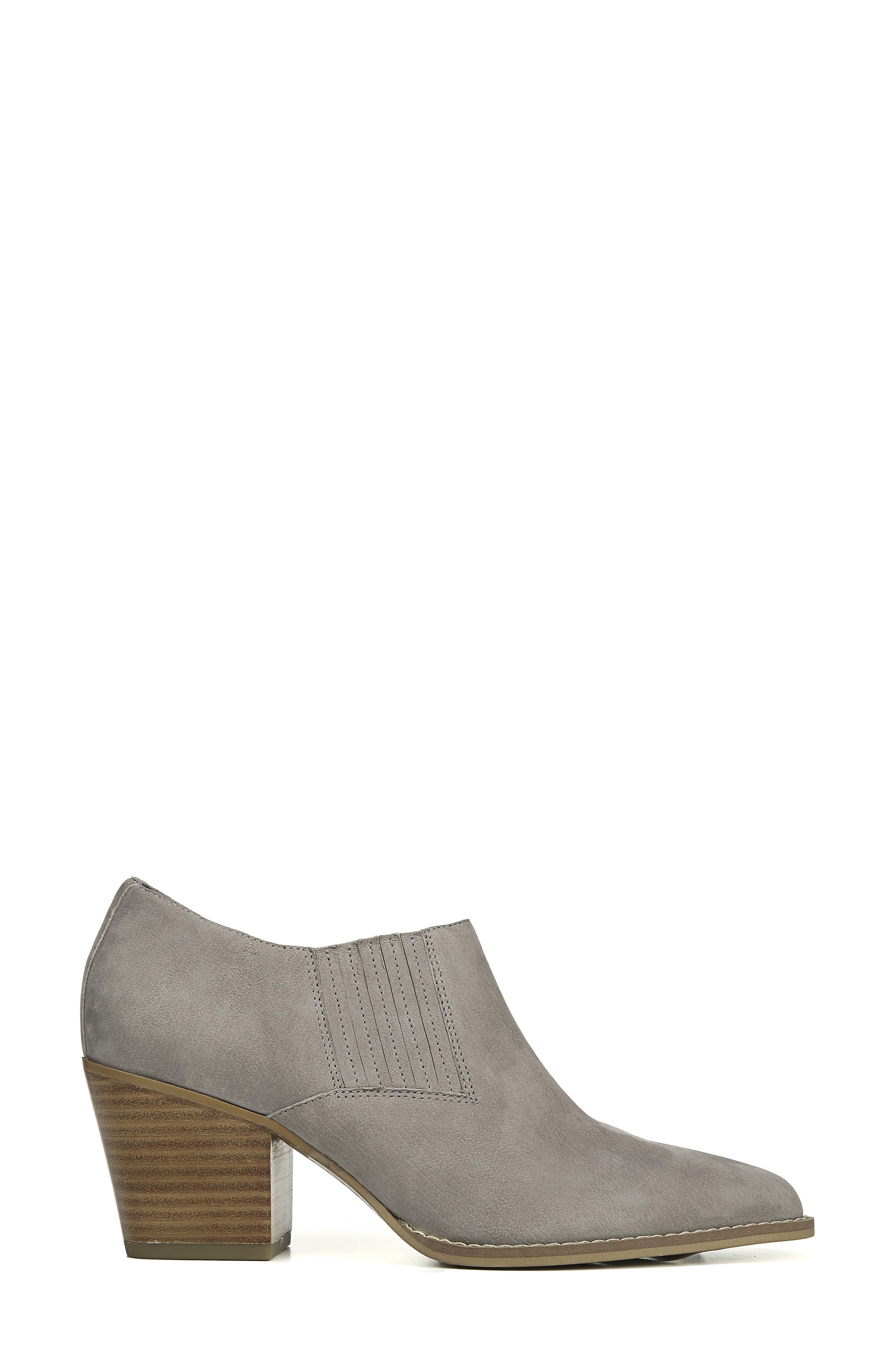Camella Bootie,                             Alternate thumbnail 3, color,                             GREYSTONE NUBUCK LEATHER