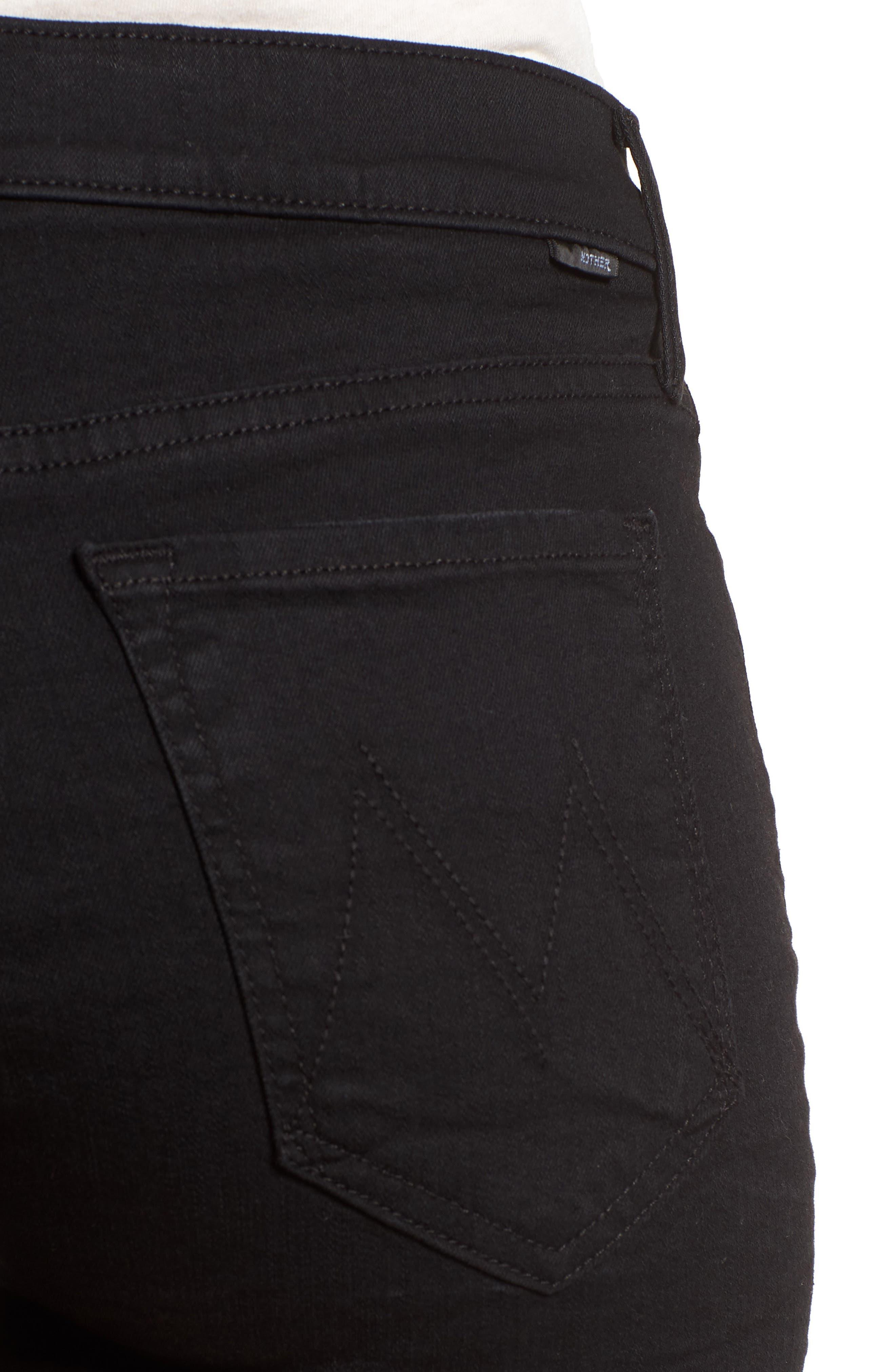The Charmer Fray Denim Shorts,                             Alternate thumbnail 4, color,