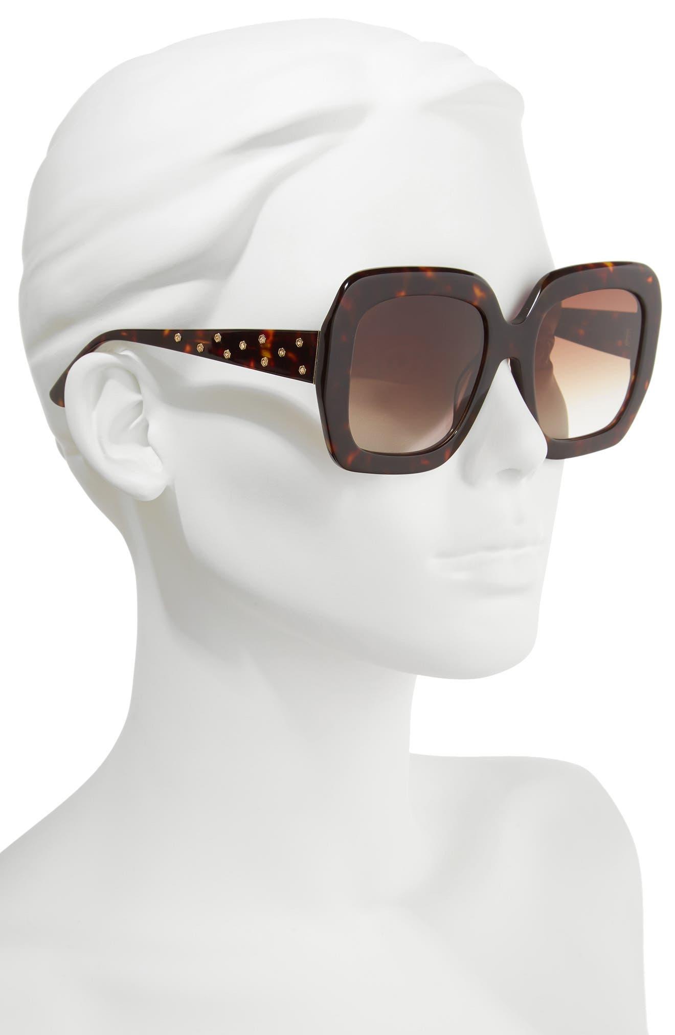 Lexington 55mm Square Sunglasses,                             Alternate thumbnail 5, color,