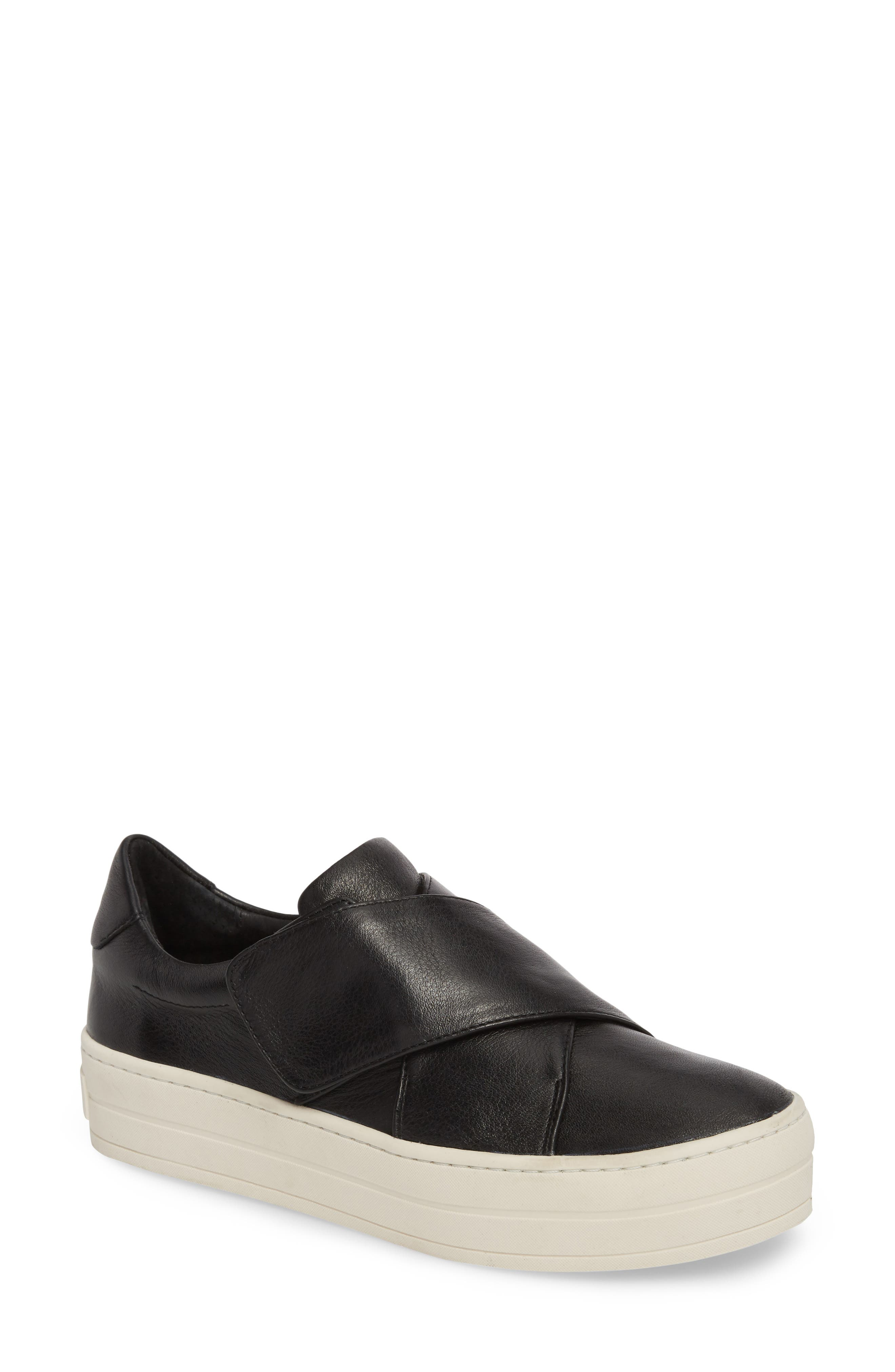Harper Sneaker,                             Main thumbnail 1, color,                             BLACK LEATHER