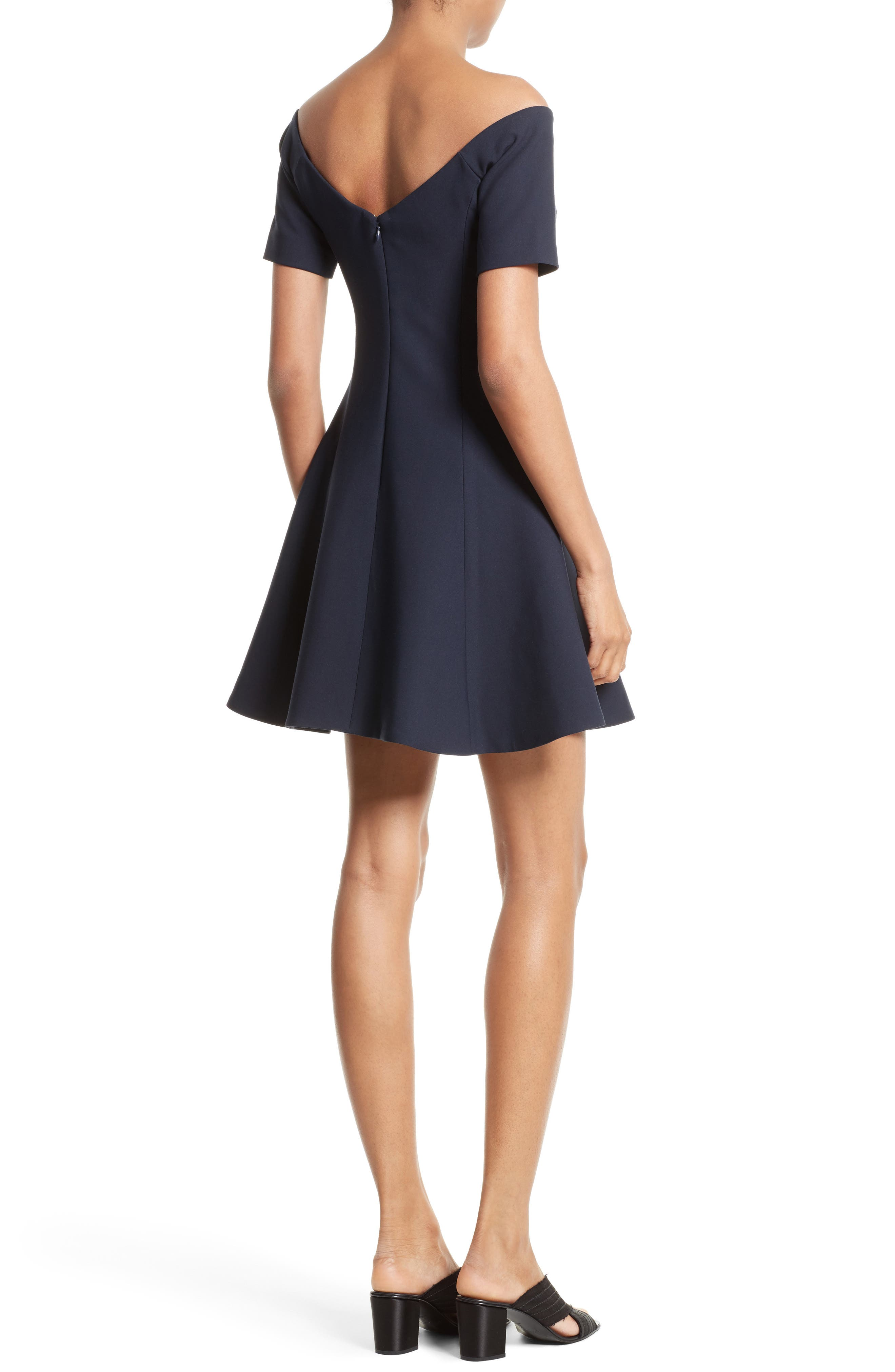 Kenna Fit & Flare Dress,                             Alternate thumbnail 2, color,                             410